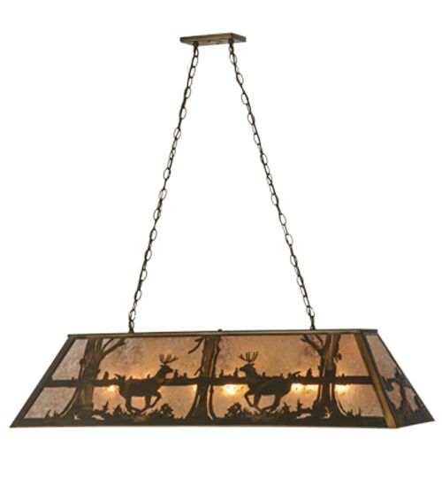 Deer at Lake 9-Light Billiard Light Size: 24