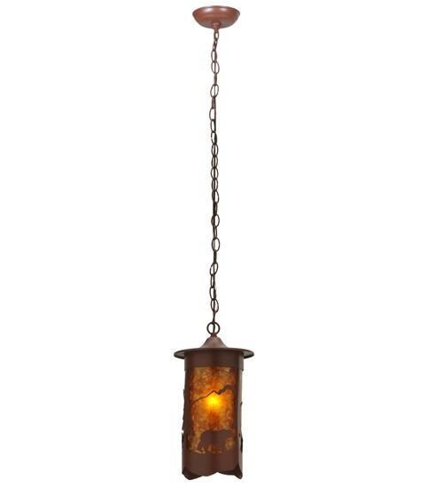 Fulton Lone Bear 1-Light Lantern Pendant
