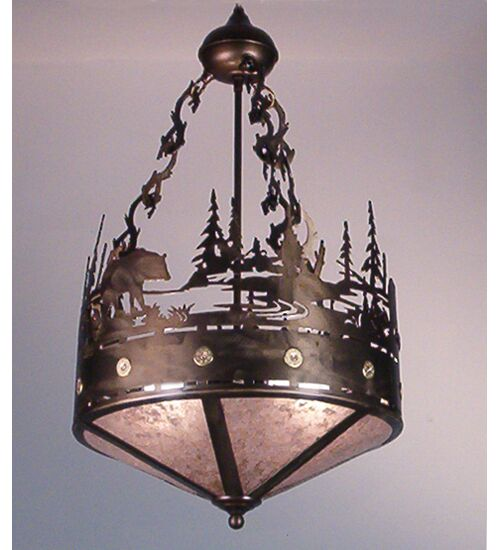 Bear Creek 2-Light Bowl Pendant