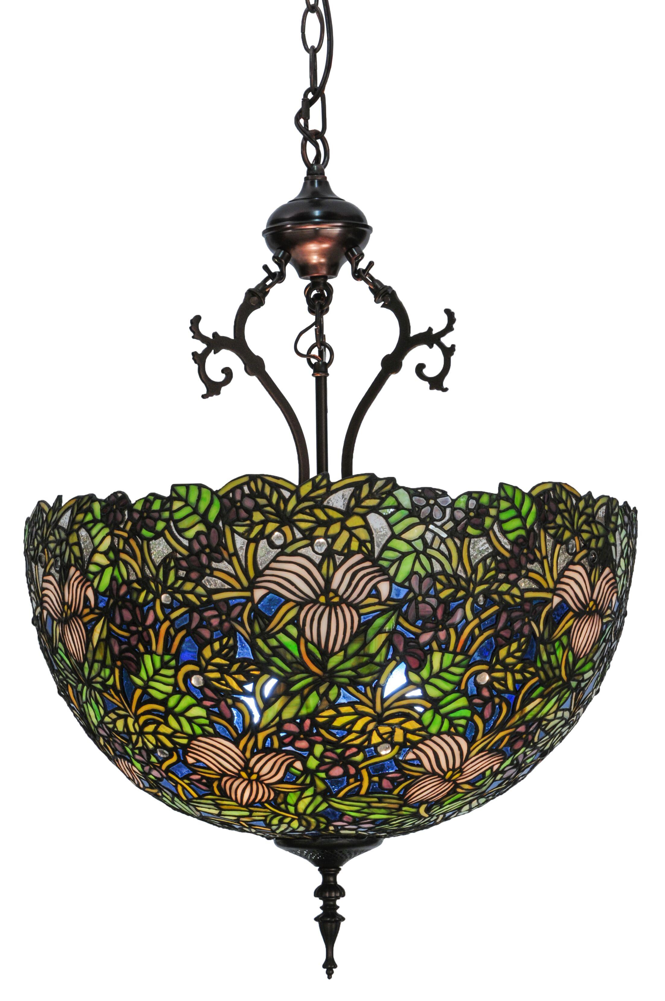 Nouveau 3-Light Bowl Pendant