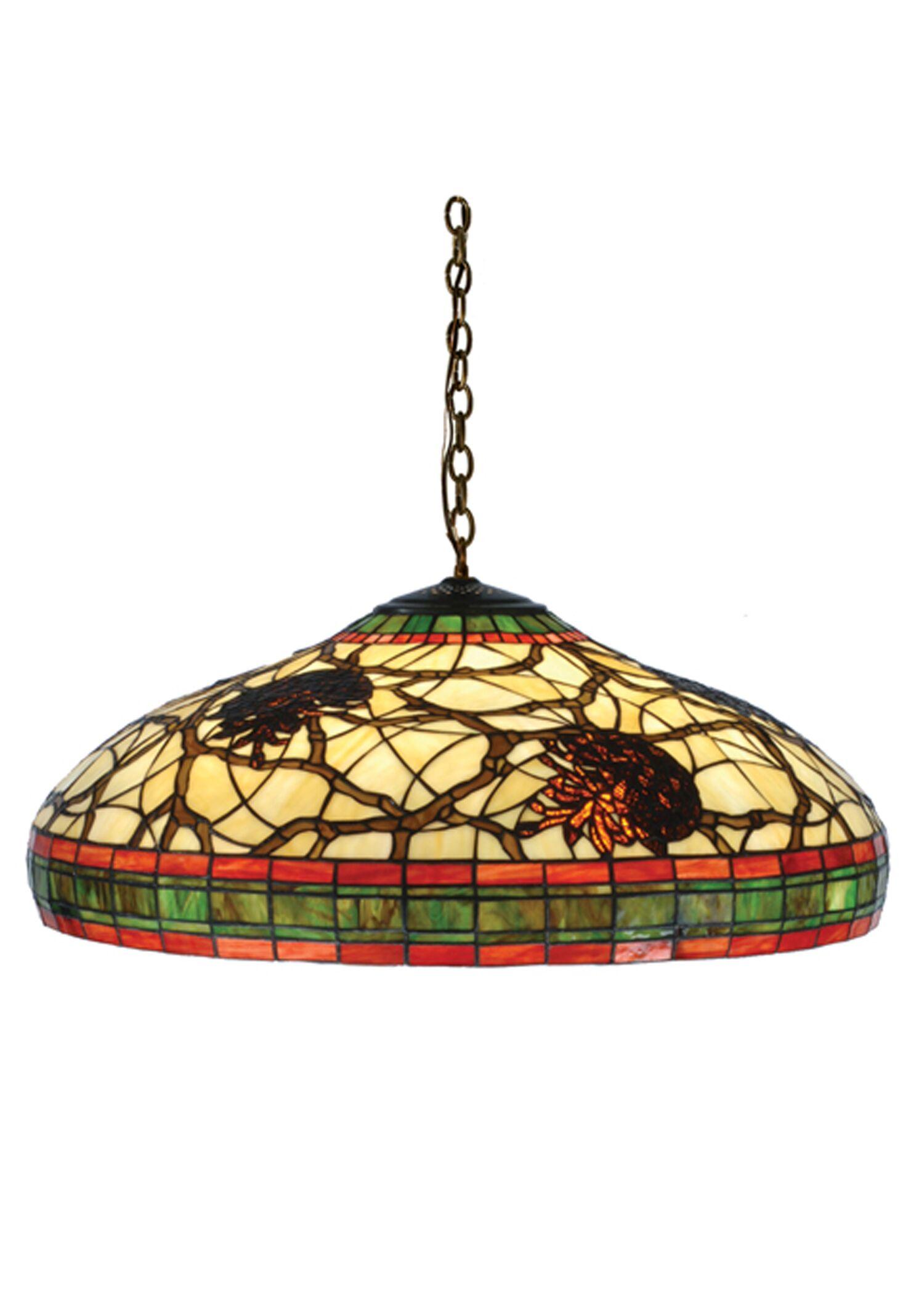 3-Light Pinecone Bowl Pendant