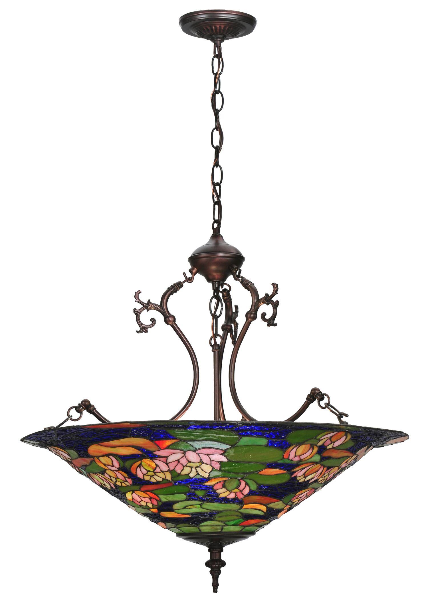 Tiffany Pond Lily 3-Light Bowl Pendant