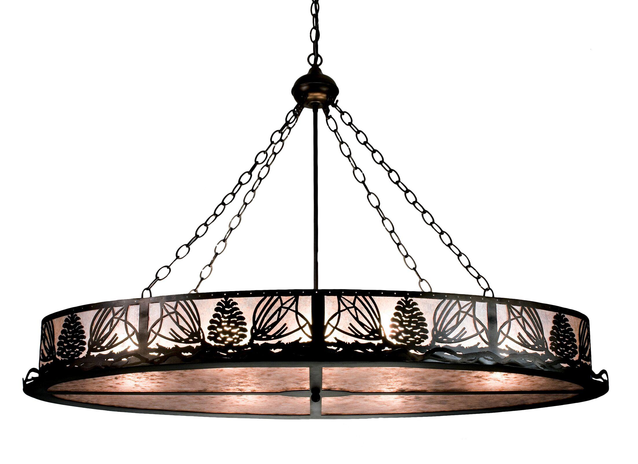 Mountain Pine 8-Light Inverted Pendant