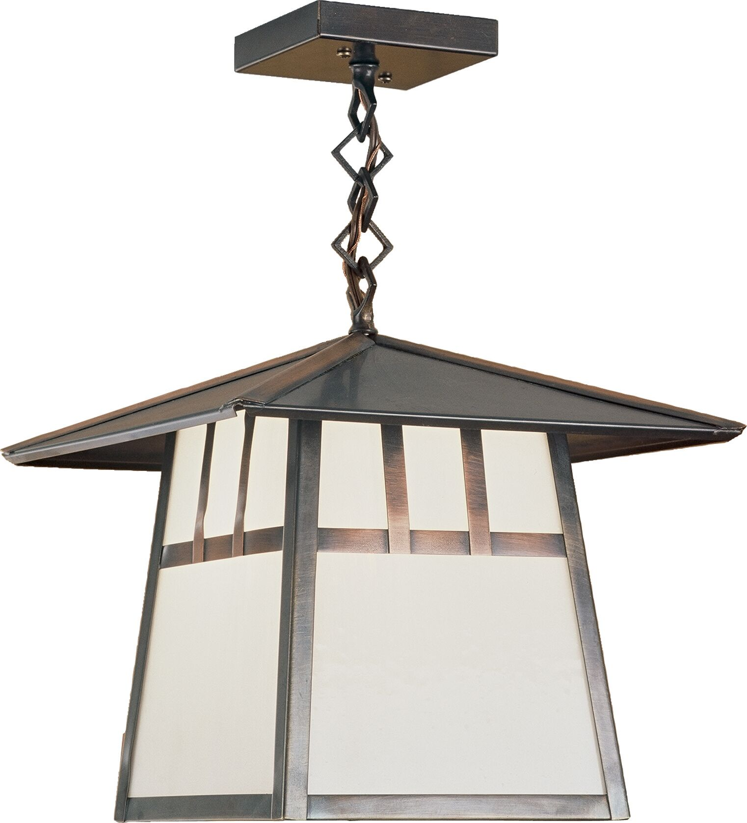 Stillwater Double Bar Mission 1-Light Lantern Pendant