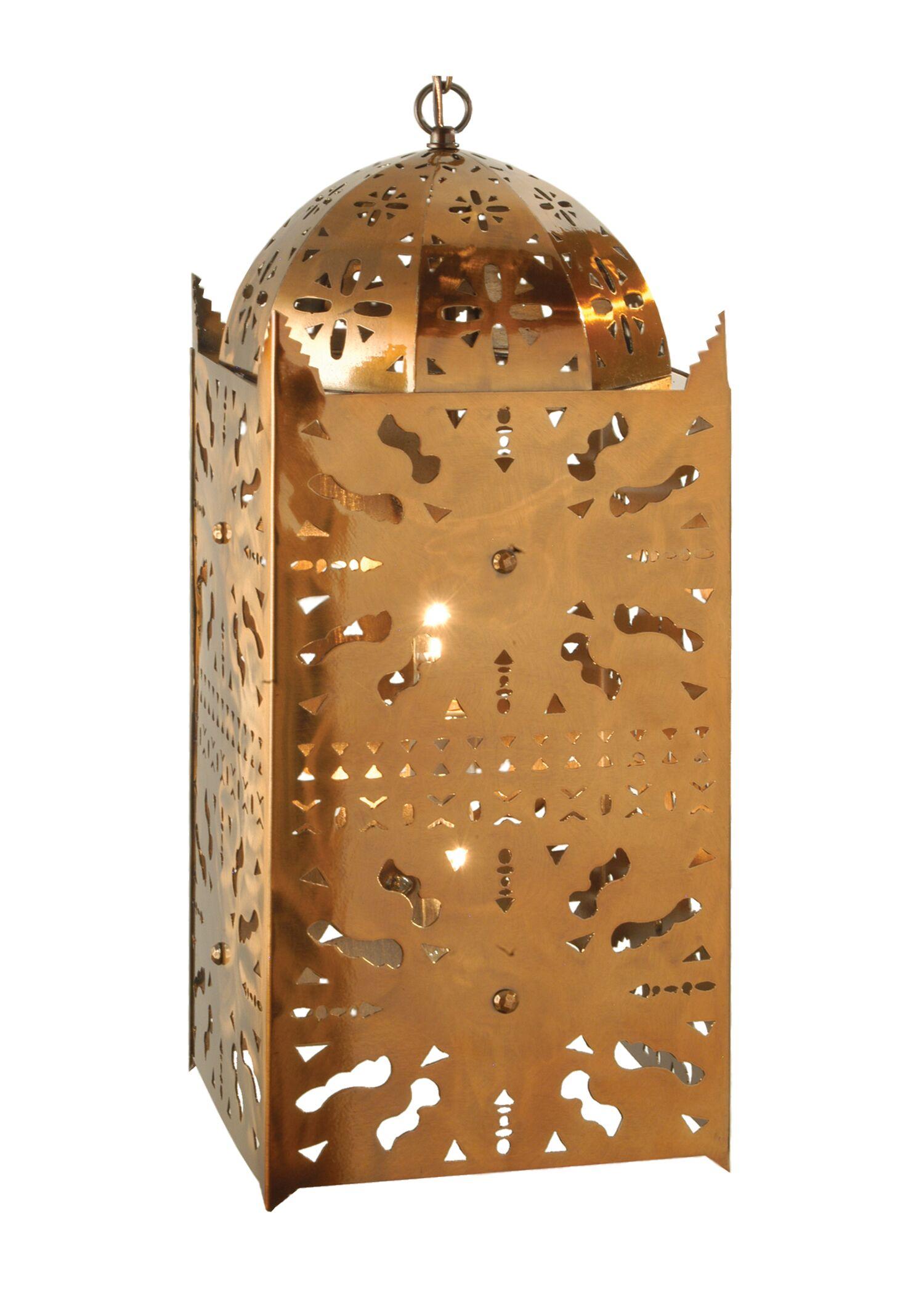 Moroccan 2-Light Lantern Pendant Size: 28.5