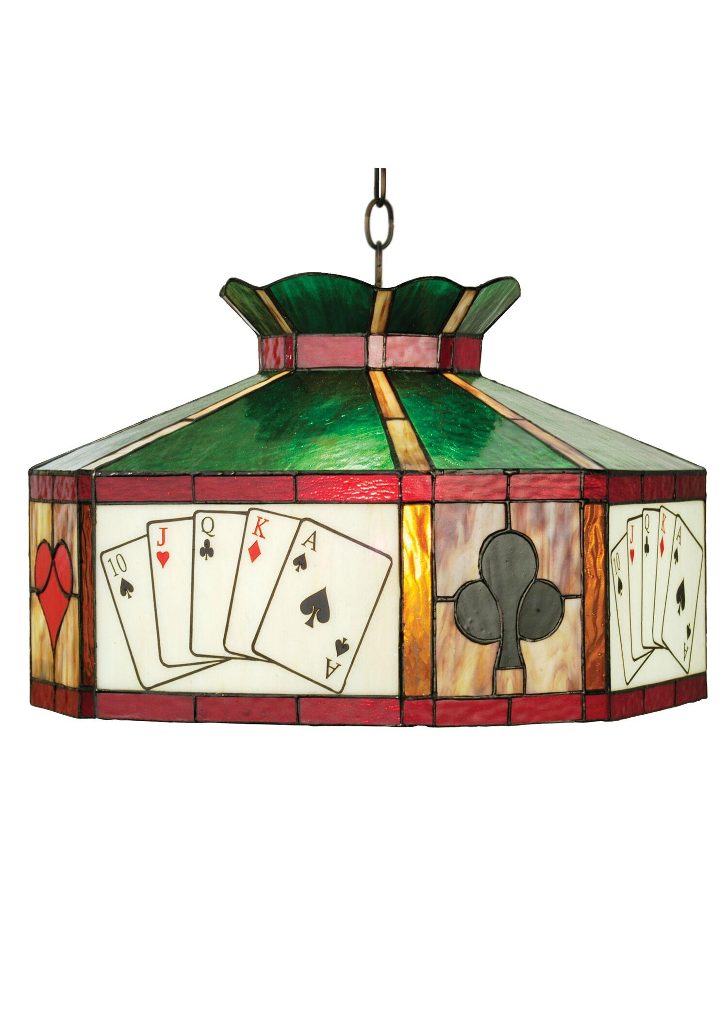 Texas Hold'em 1-Light Pool Table Lights Pendant