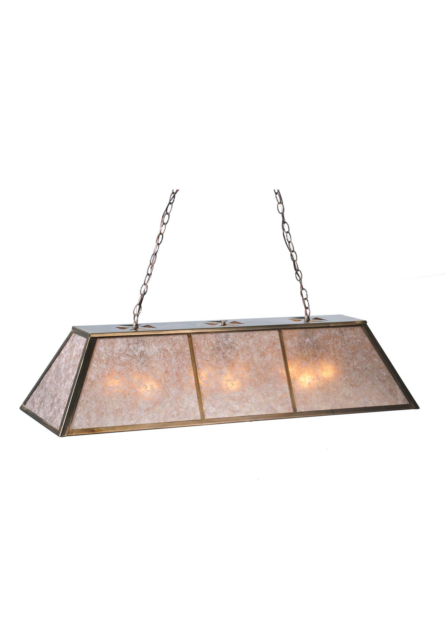 Tri-Panel 9-Light Pool Table Lights Pendant Size: 45