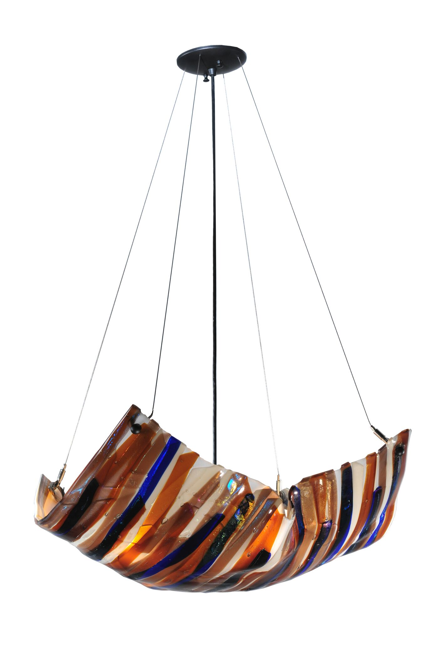 Oceano Fused Glass 4-Light Novelty Chandelier