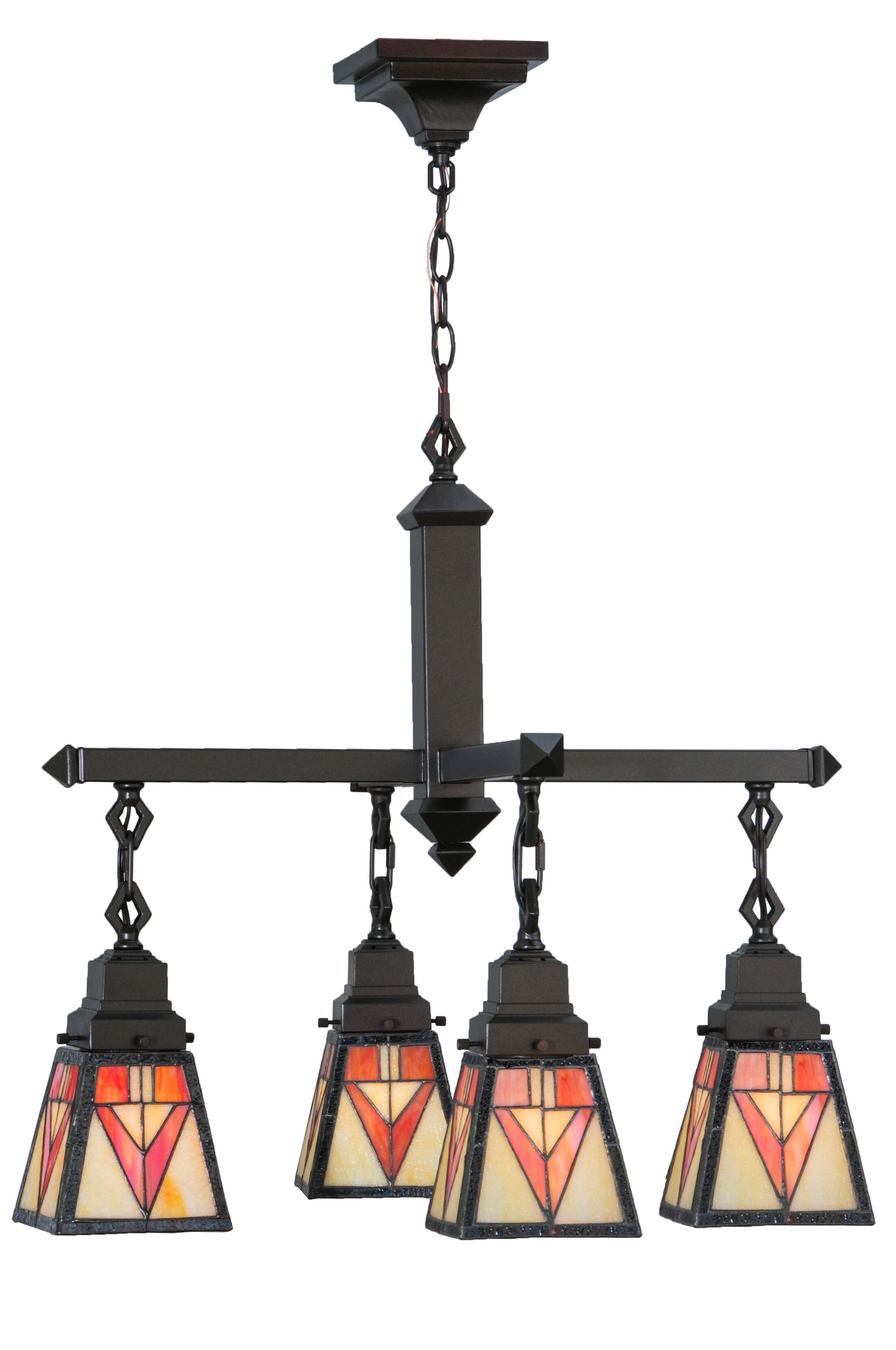 Otero Mission 4-Light Shaded Chandelier