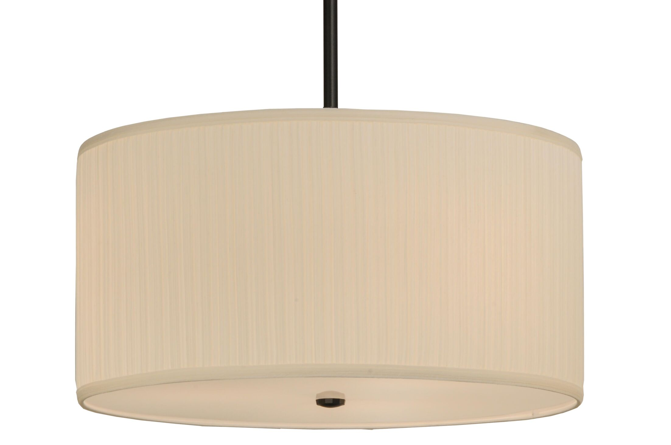 Cilindro Mushroom Pleated Textrene 3-Light Pendant Size: 14
