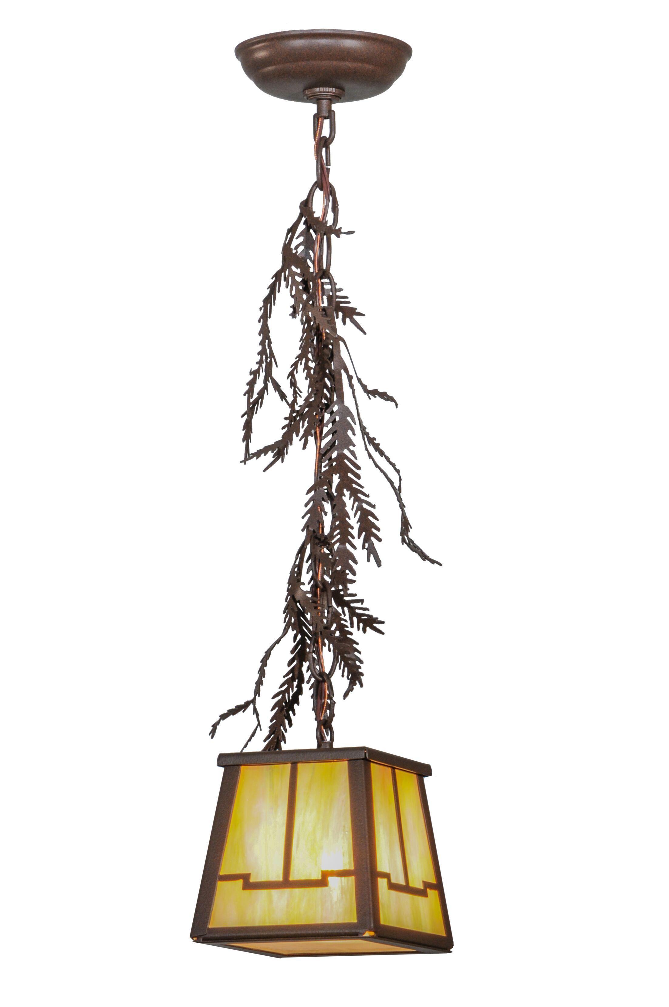 Pine Branch Valley View 1-Light Lantern Pendant Size: 16 - 69