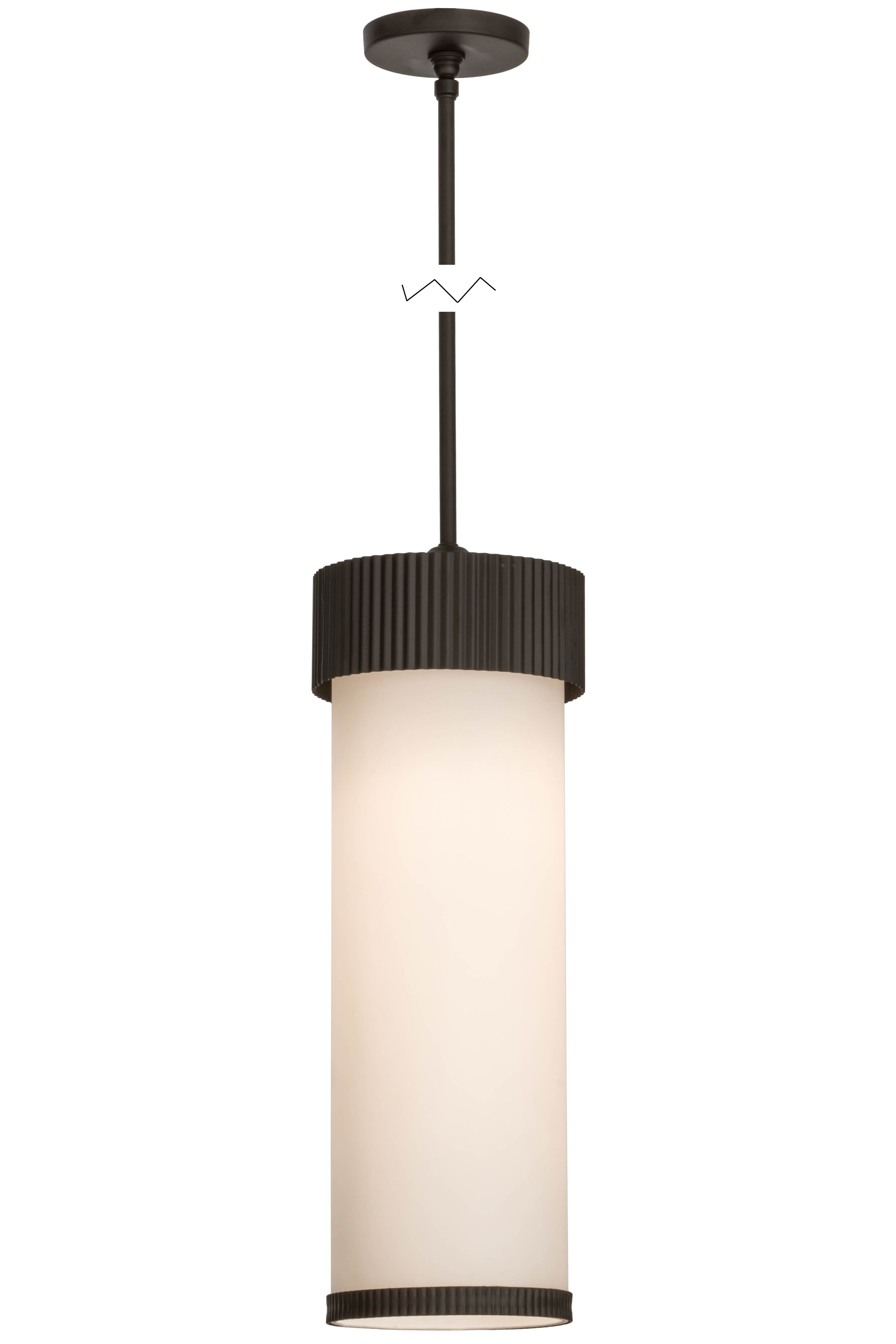 Greenbriar Oak Cilindro Corrugated 1-Light Cylinder Pendant Size: 60