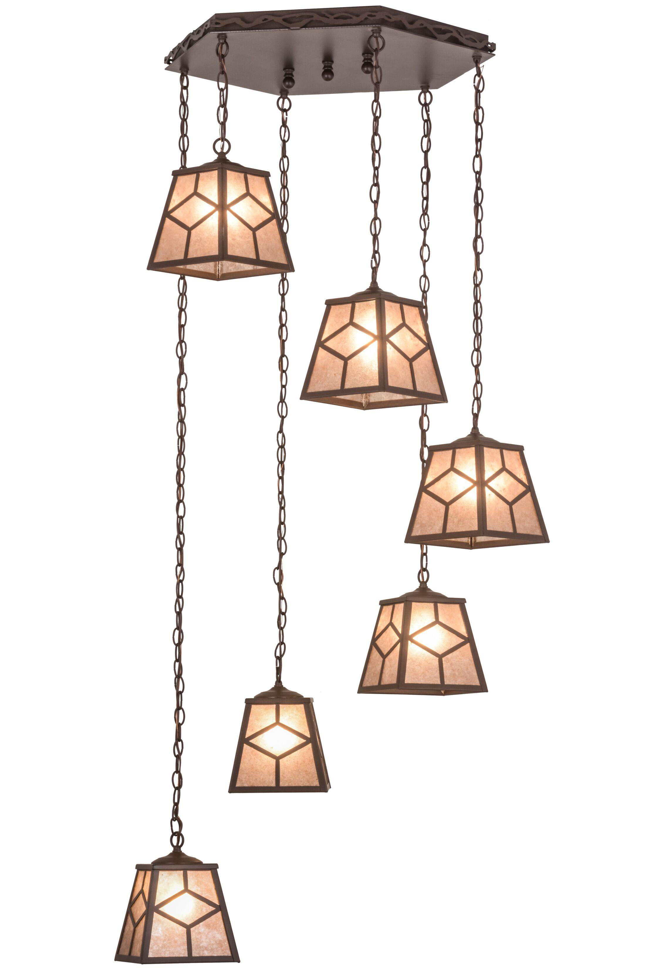 Greenbriar Oak Diamond Mission 6-Light Pendant