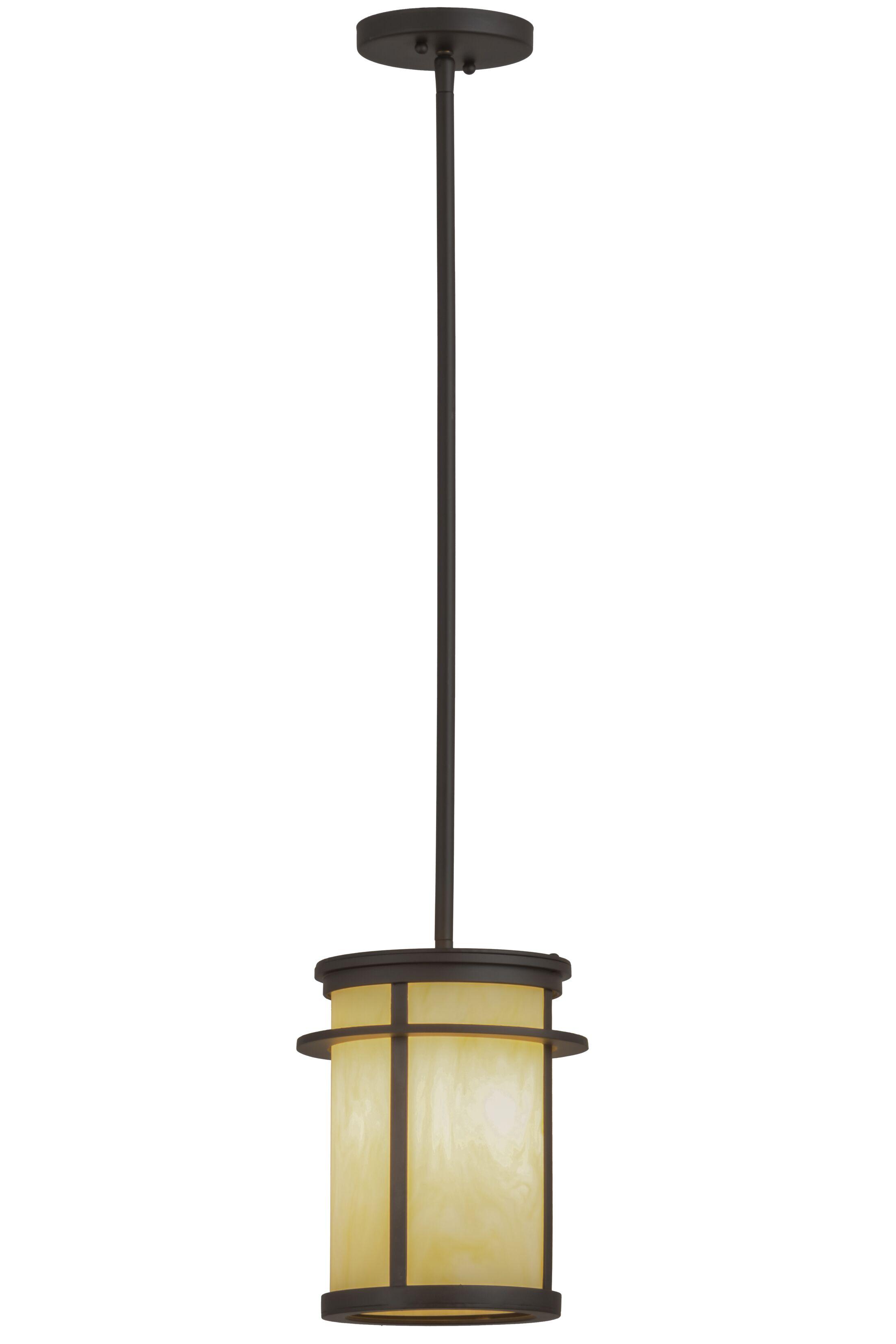 Greenbriar Oak 1-Light Cylinder Pendant