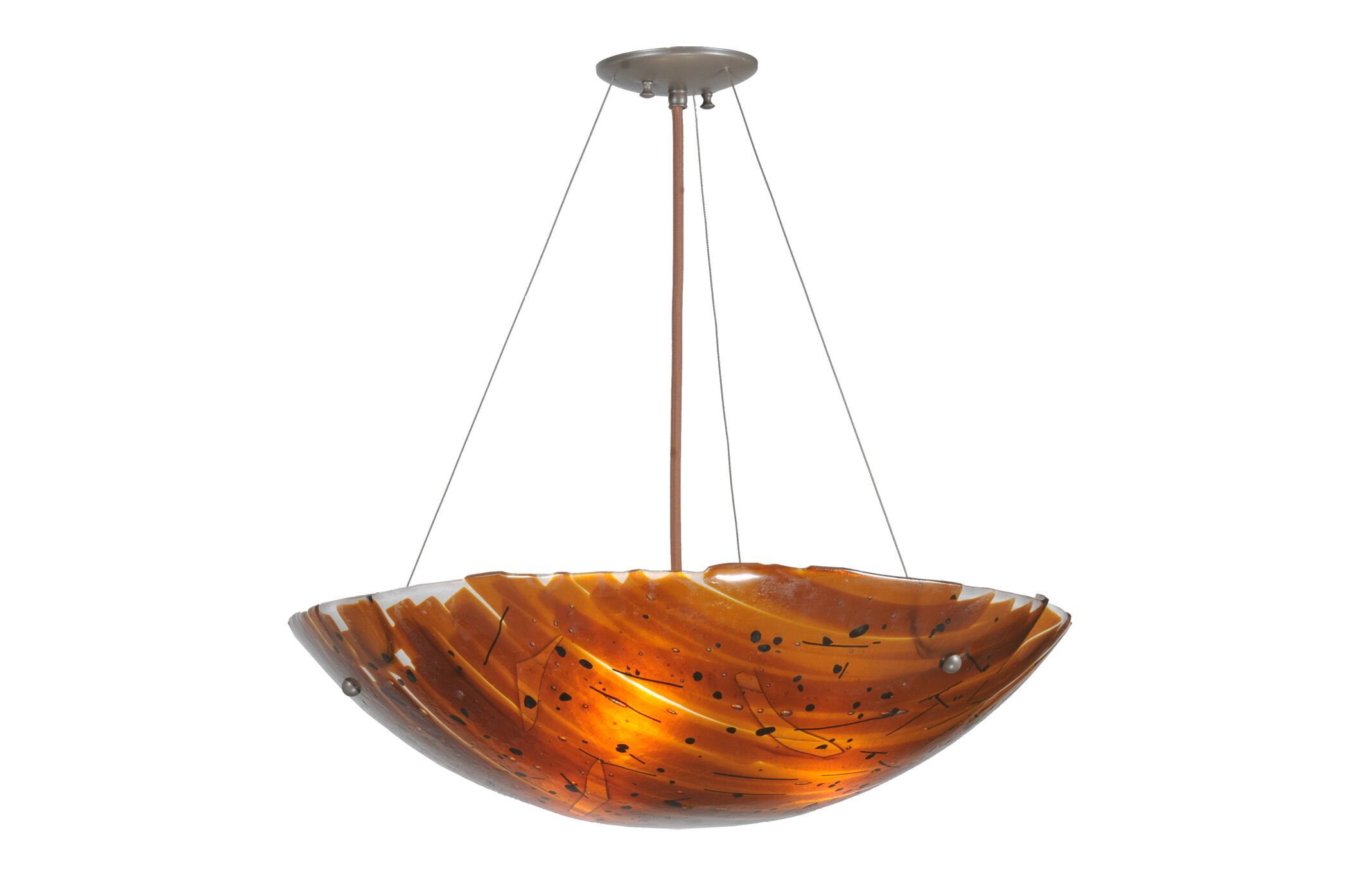 Torta Fused Glass 3-Light Bowl Pendant