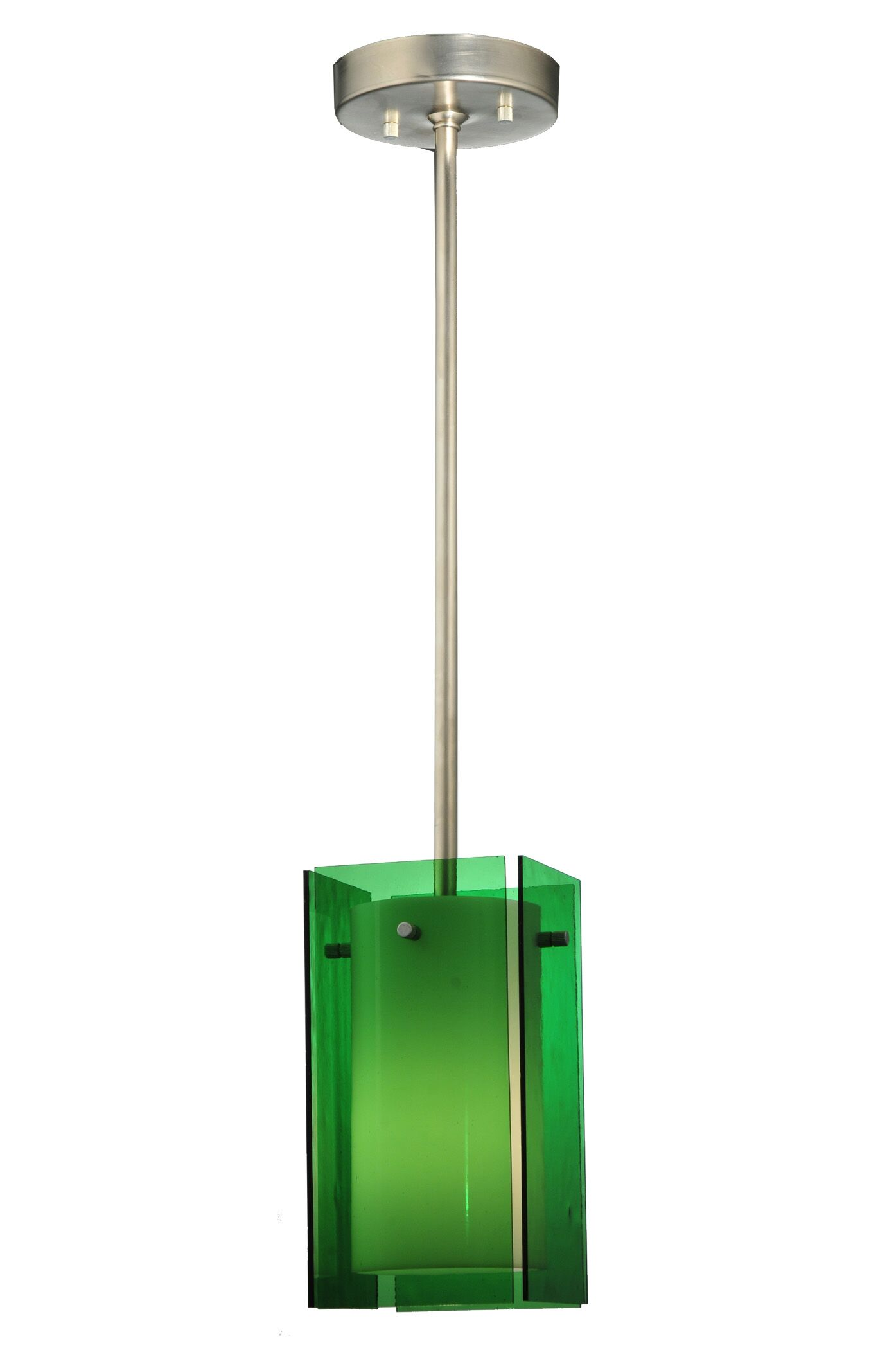 Metro Quadrato 1-Light Square/Rectangle Pendant Shade Color: Green