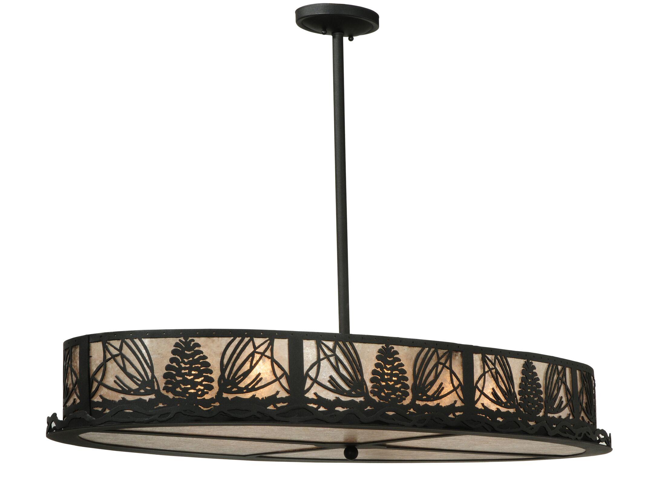 Greenbriar Oak 8-Light Pendant