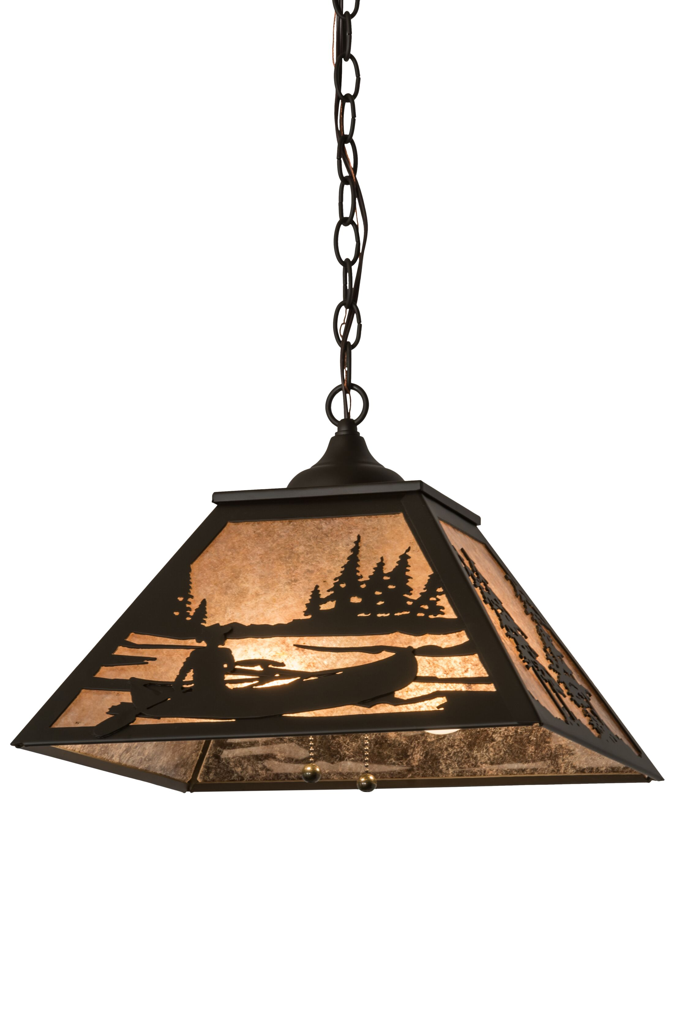 Greenbriar Oak 2-Light Dome Pendant