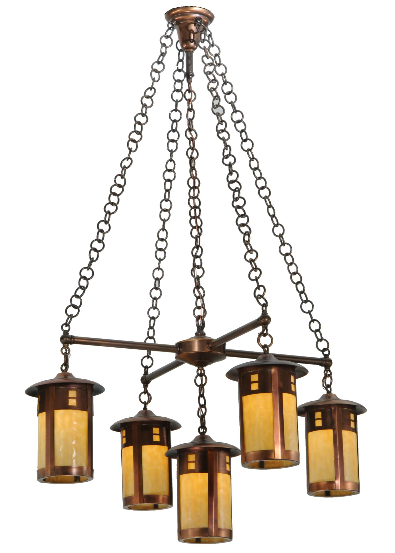 Fulton Prairie Loft 5-Light Shaded Chandelier