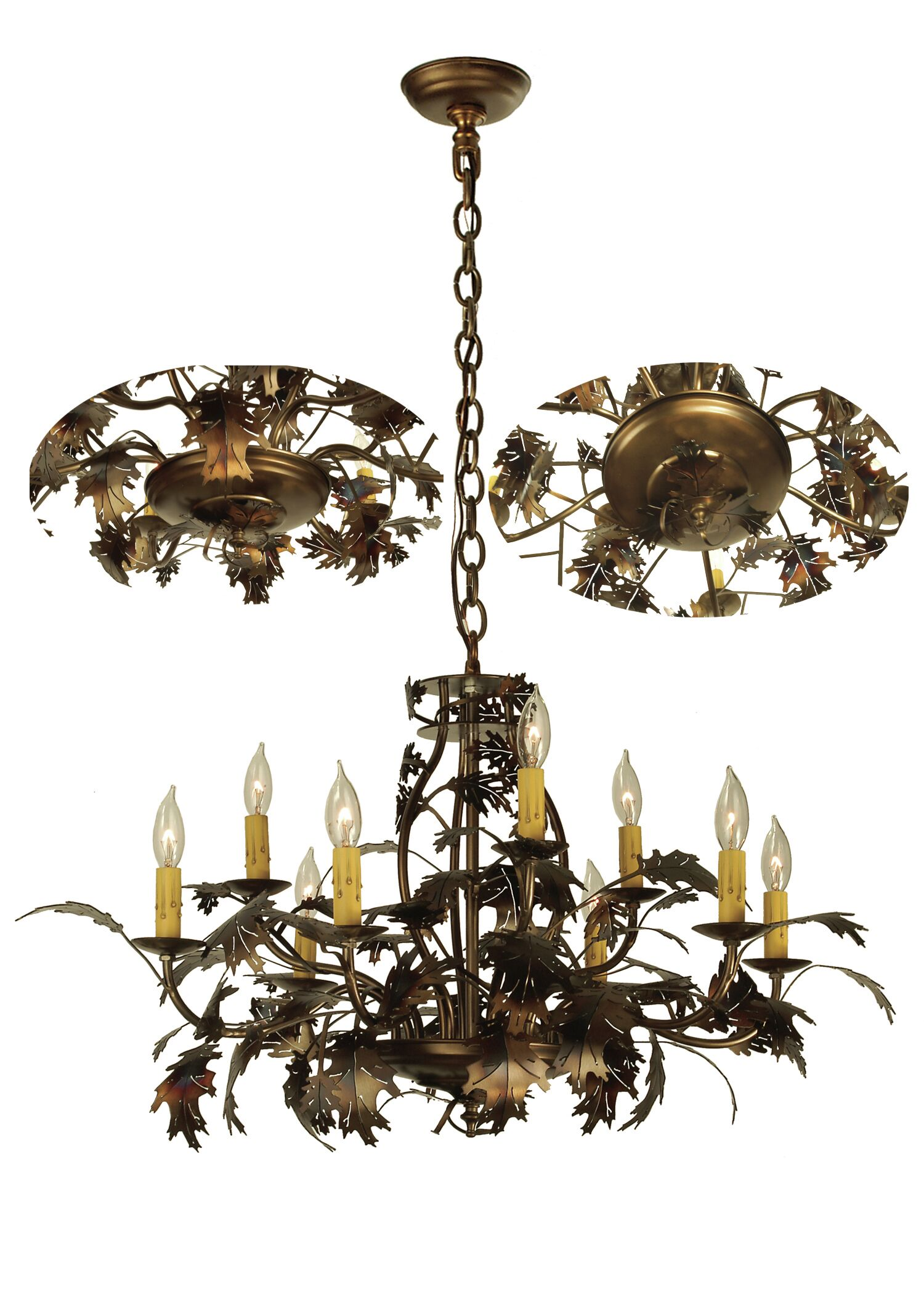 Oak Leaf 9-Light Chandelier