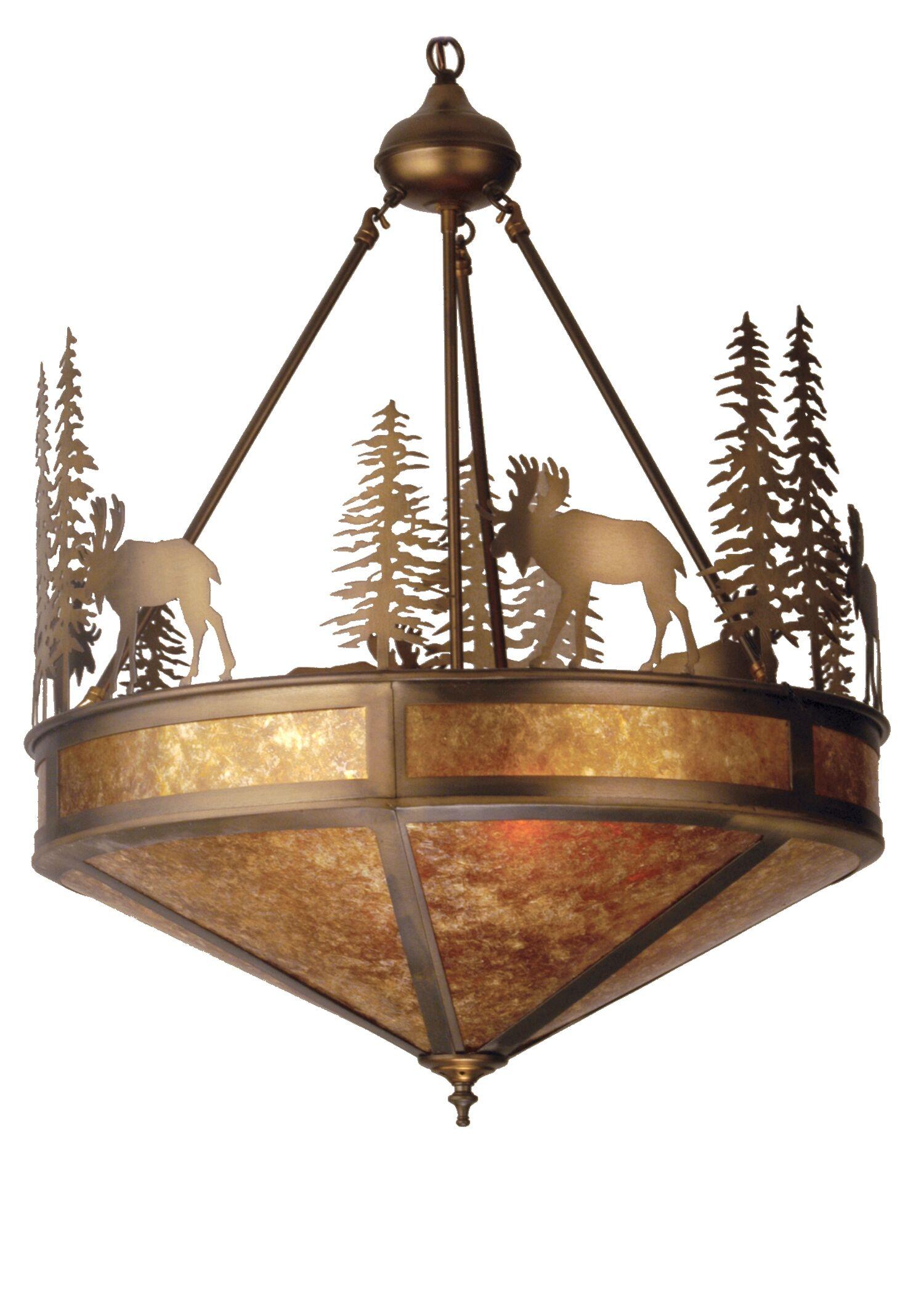 Wandering Moose 1-Light Bowl Pendant