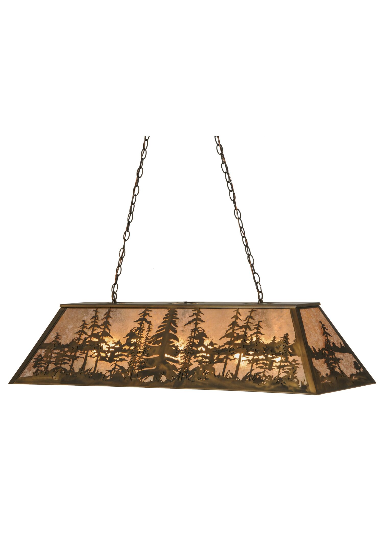 Tall Pines 6-Light Pool Table Pendant Size: 24