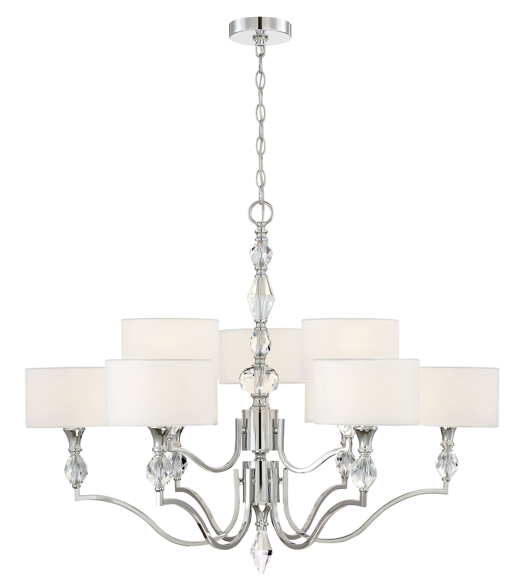 Evi 9-Light Shaded Chandelier