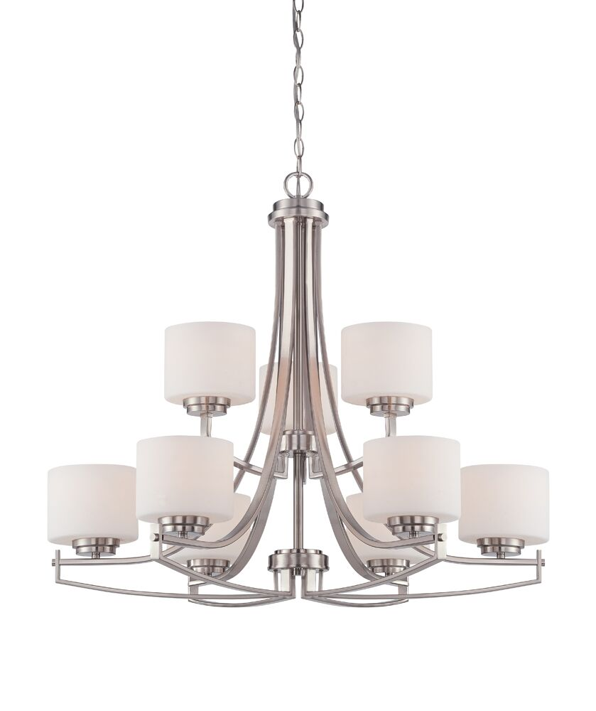 Bergen 9-Light Shaded Chandelier