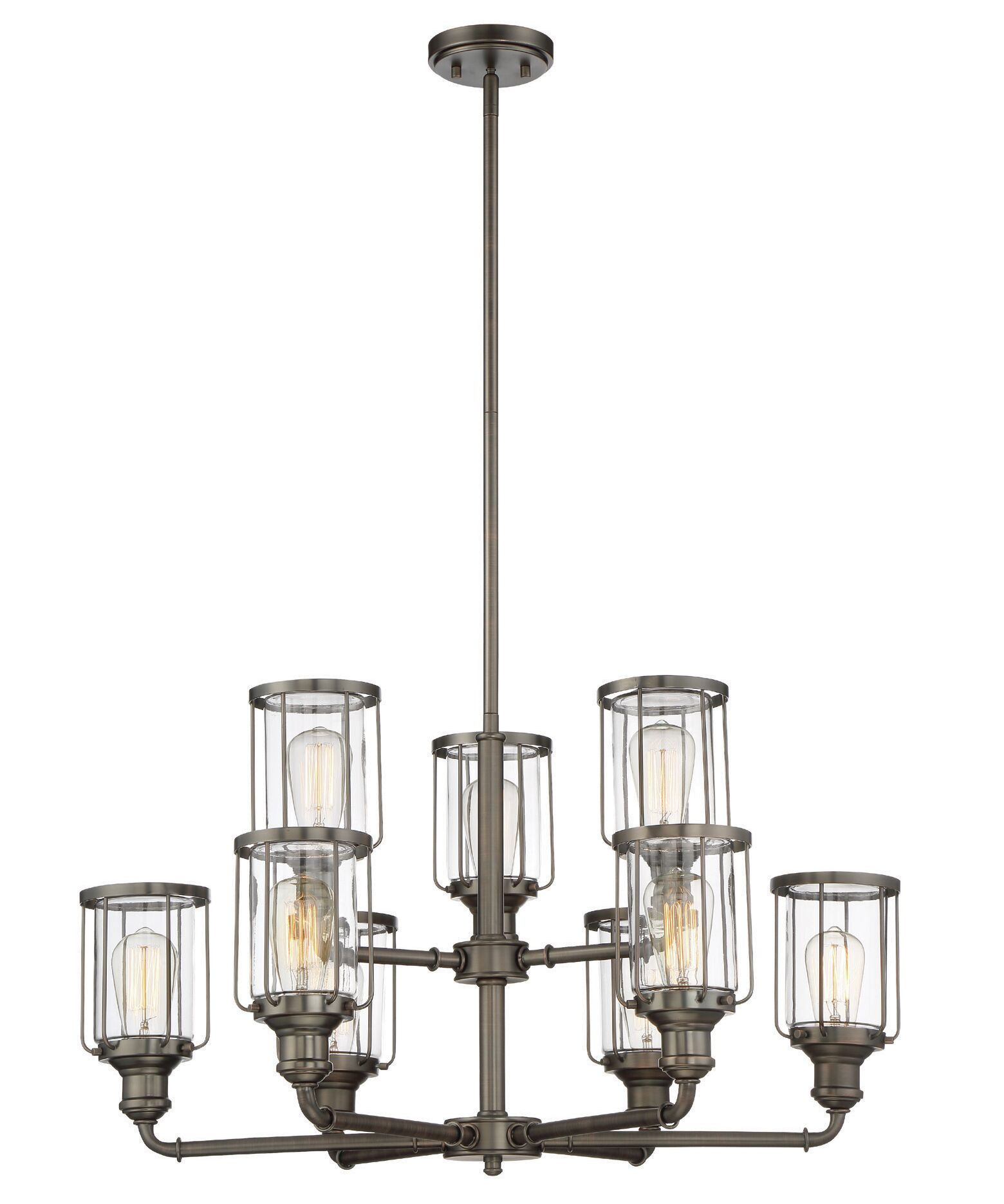 Adriana 9-Light Shaded Chandelier