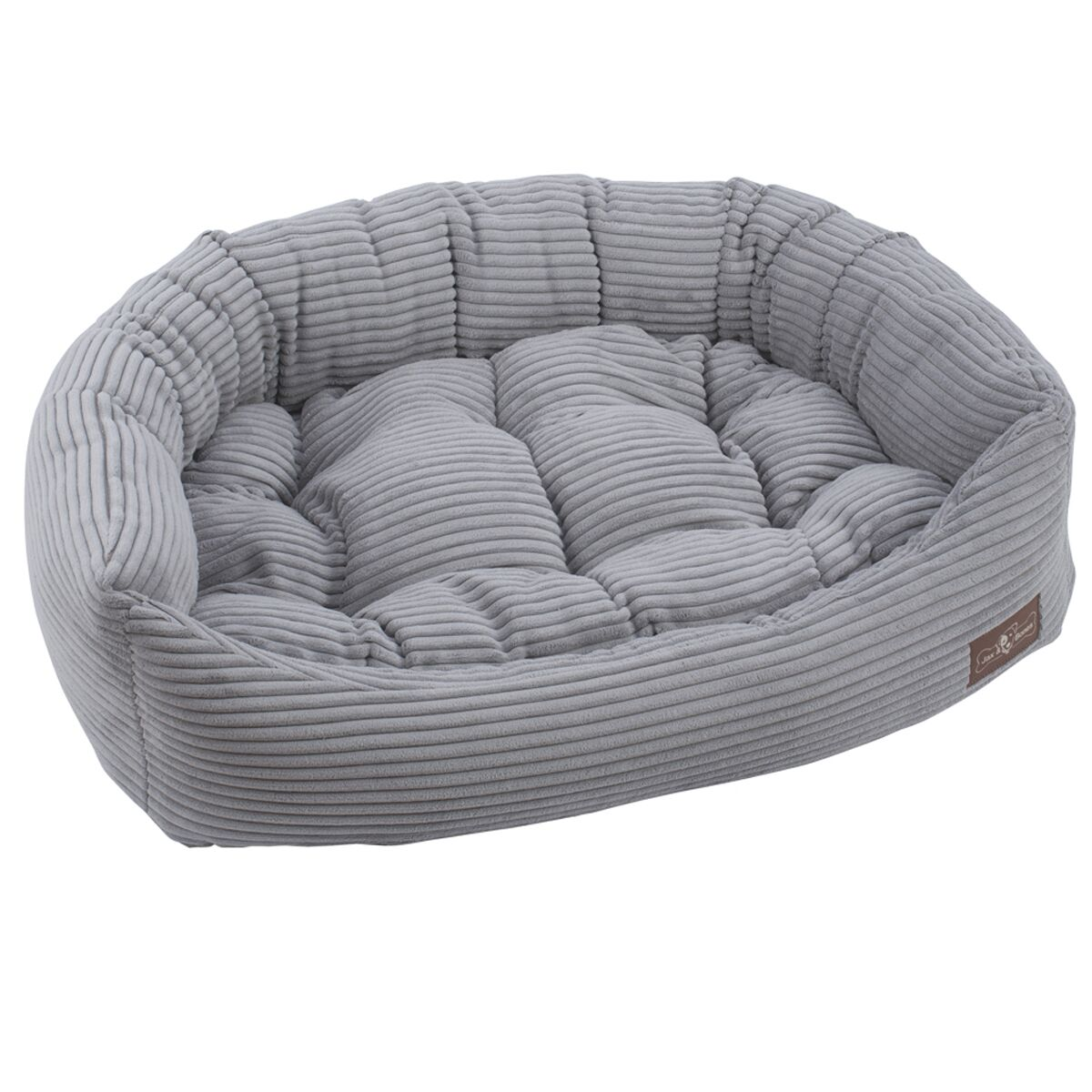 Corduroy Napper Bed Bolster Color: Dove Grey, Size: Small - 21