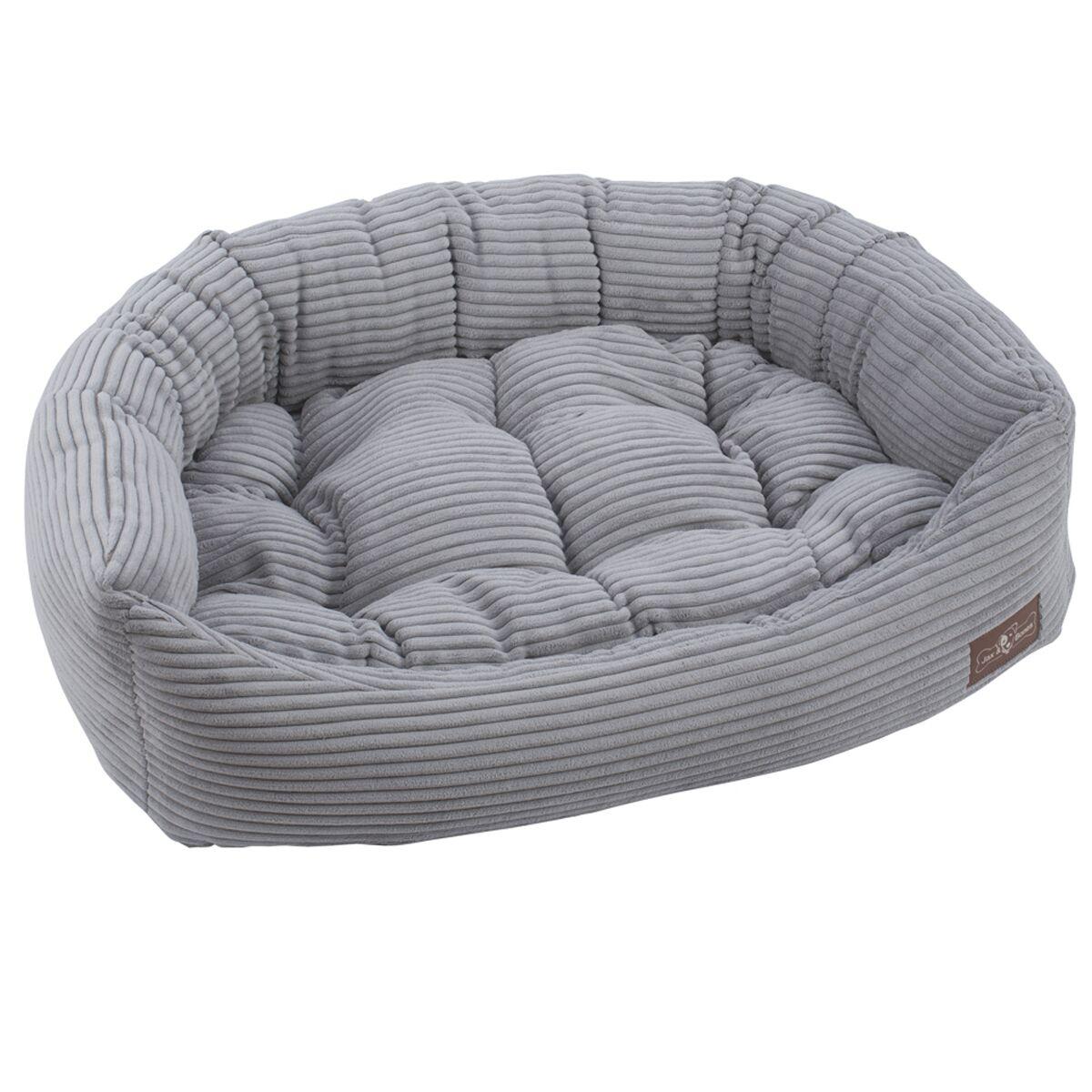 Corduroy Napper Bed Bolster Color: Dove Grey, Size: Medium - 27