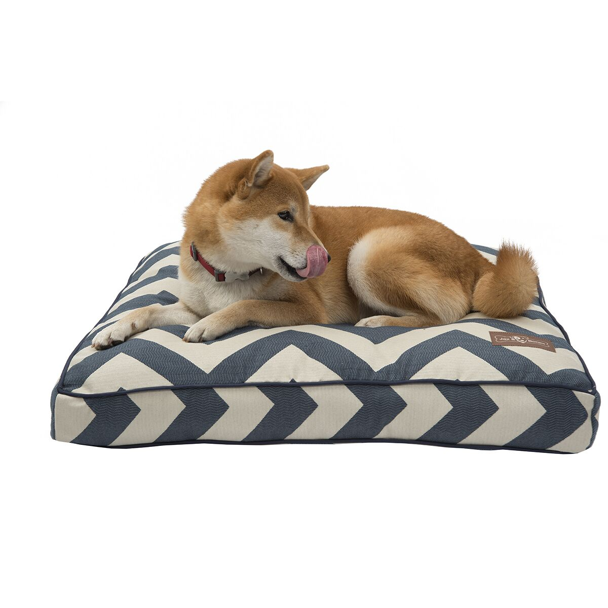 Spellbound Premium Cotton Square Pillow Dog Bed Color: Blue, Size: Small - 25