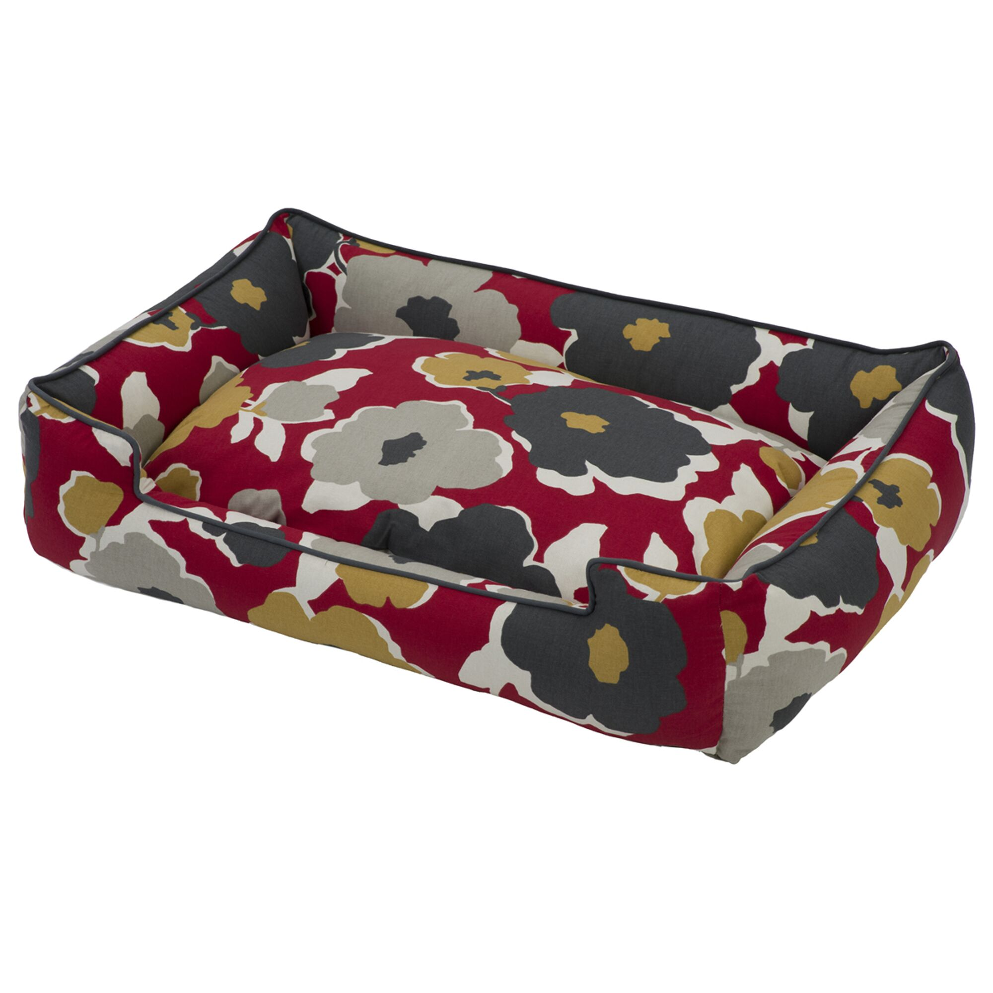 Everyday Cotton Lounge Pet Bed Color: Dahlia, Size: Extra Large (48