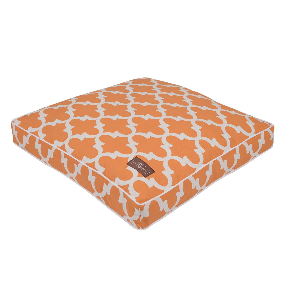 Creamsicle Everyday Cotton Pillow Dog Bed Color: Topaz, Size: 36