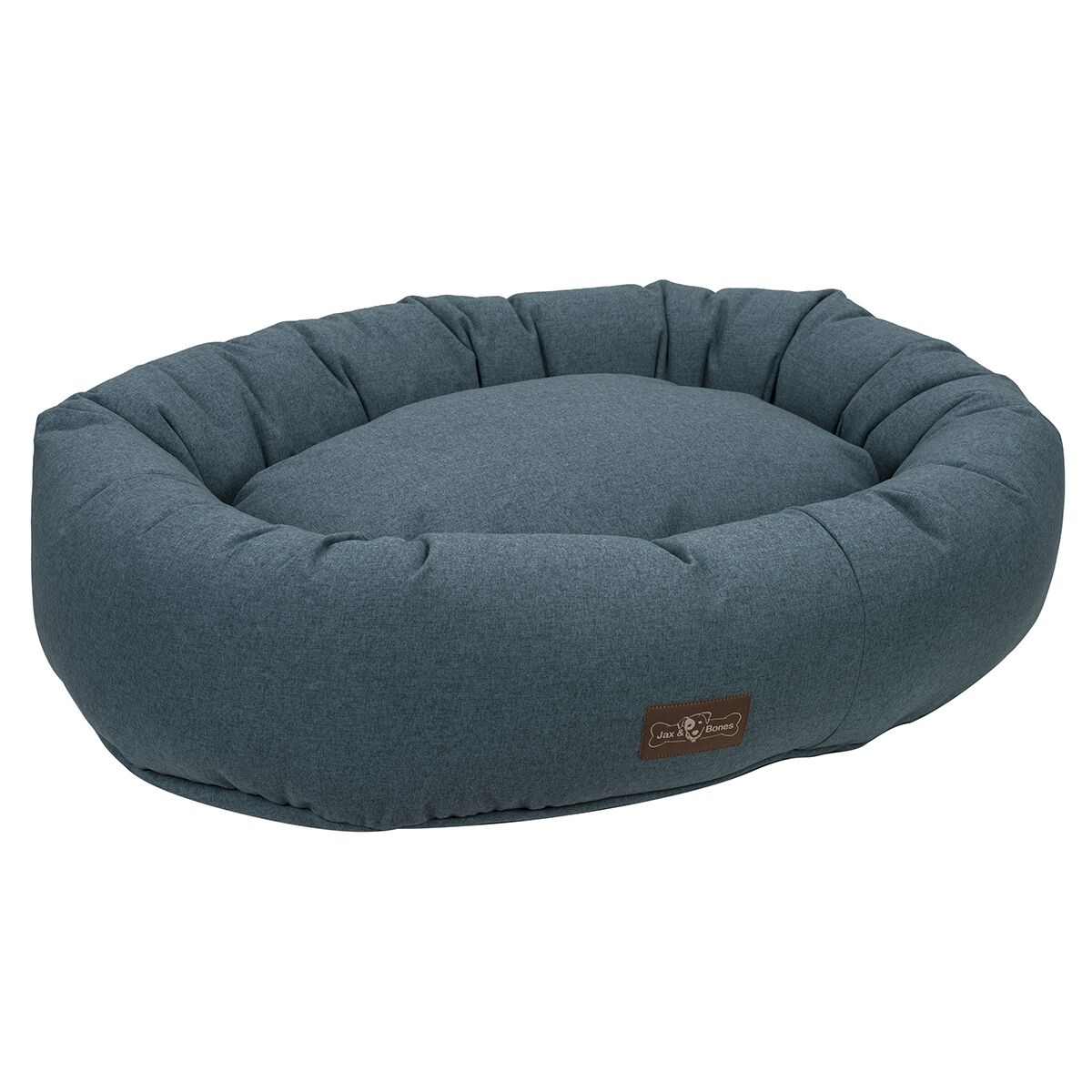 Standard Wool Blend Donut Bed Color: Juniper (Blue), Size: Small