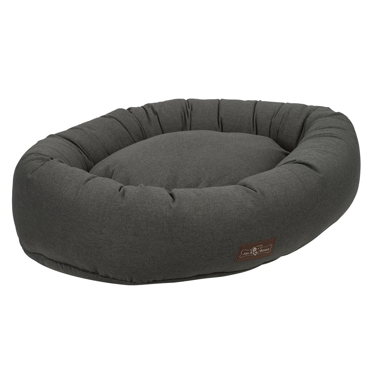 Standard Wool Blend Donut Bed Size: Large, Color: Licorice (Grey)