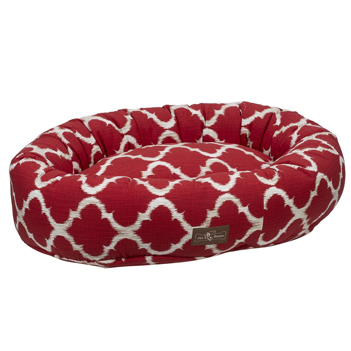 Monaco Everyday Cotton Donut Bed Color: Monaco Scarlet (Red), Size: Medium
