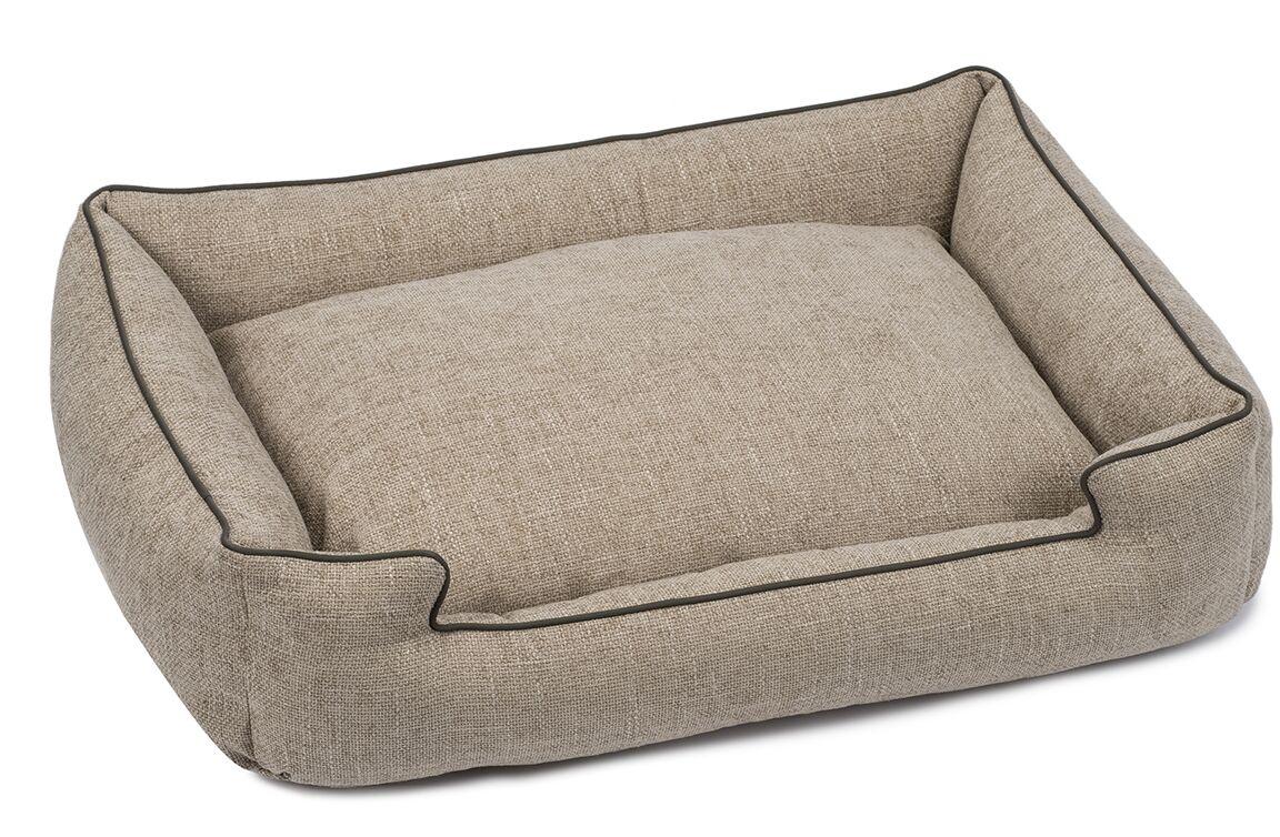 Harper Textured Woven Lounge Dog Bed Size: Large, Color: Sandstone
