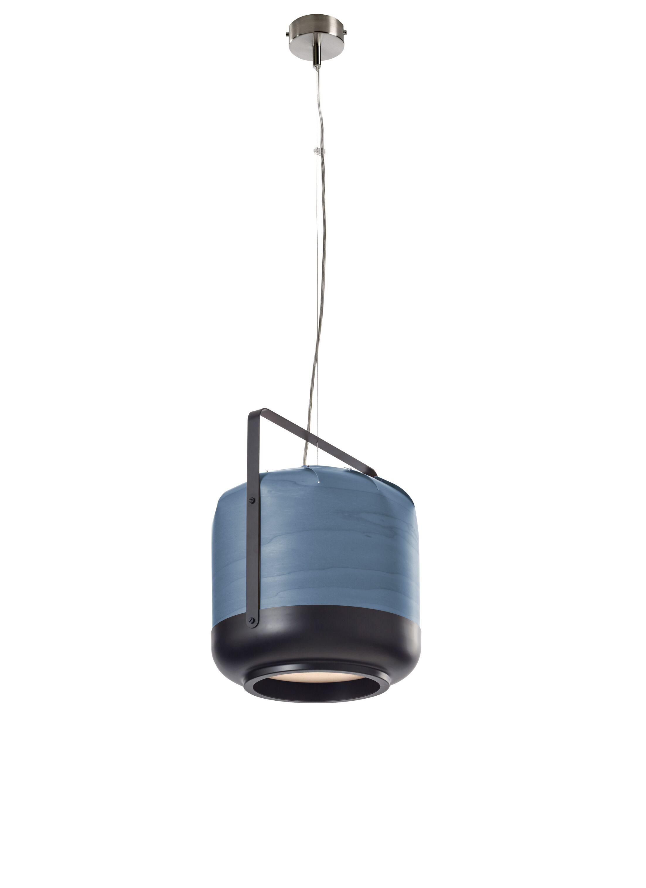 Chou 1-Light Drum Pendant Size: Medium, Finish: Turquoise, Bulb Type: GU24 Base