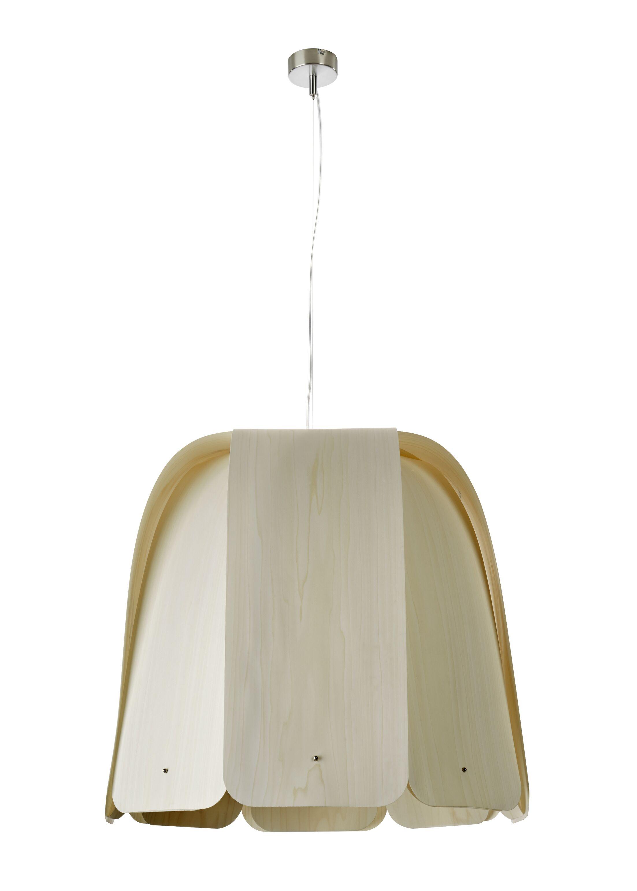Domo 1-Light Inverted Pendant Bulb Type: E26 Base, Finish: Ivory White, Size: 21.6