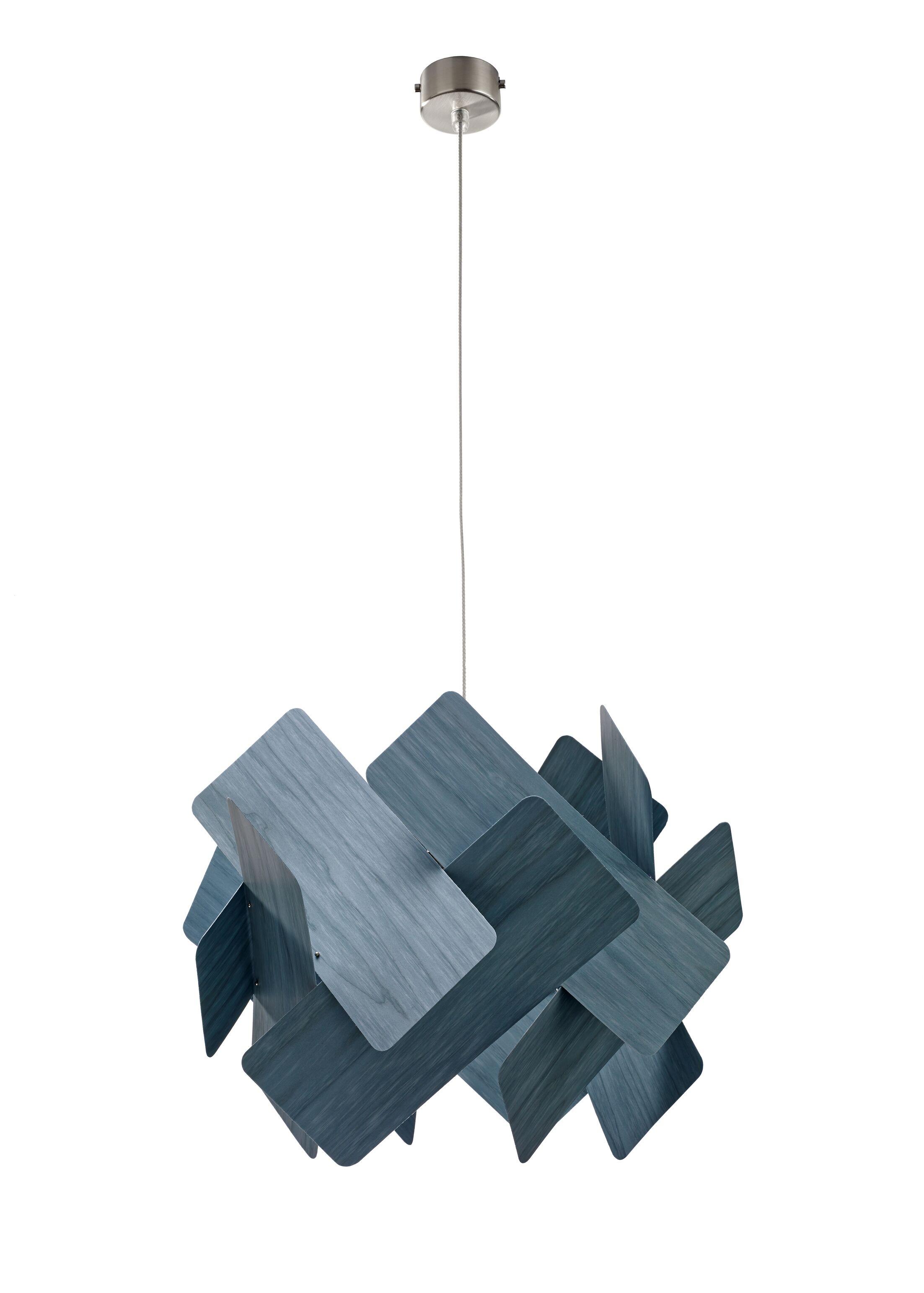 Escape 1-Light Pendant Shade Color: Blue, Bulb Type: GU24