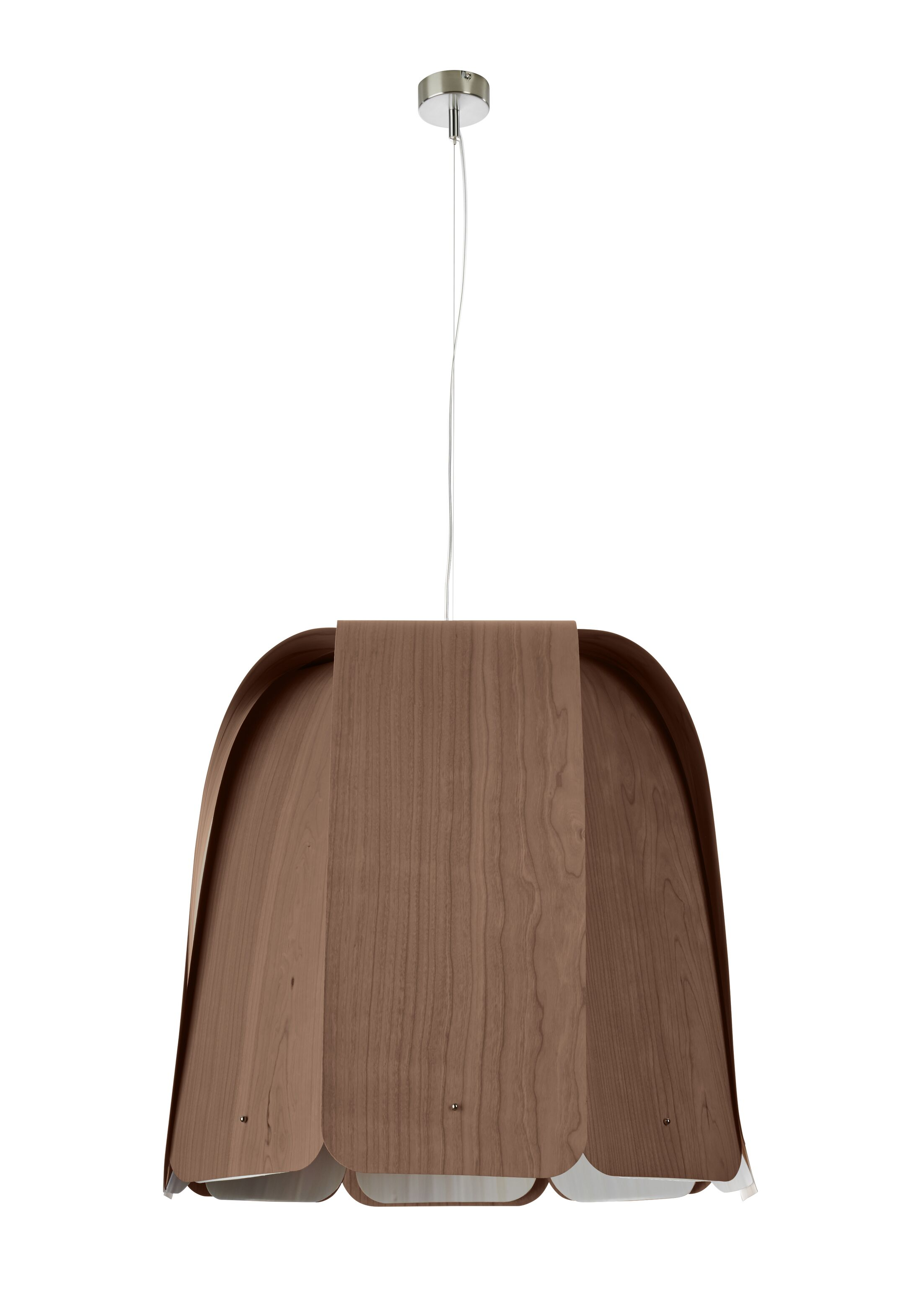 Domo 1-Light Inverted Pendant Finish: Chocolate, Bulb Type: GU24 Base, Size: 21.6
