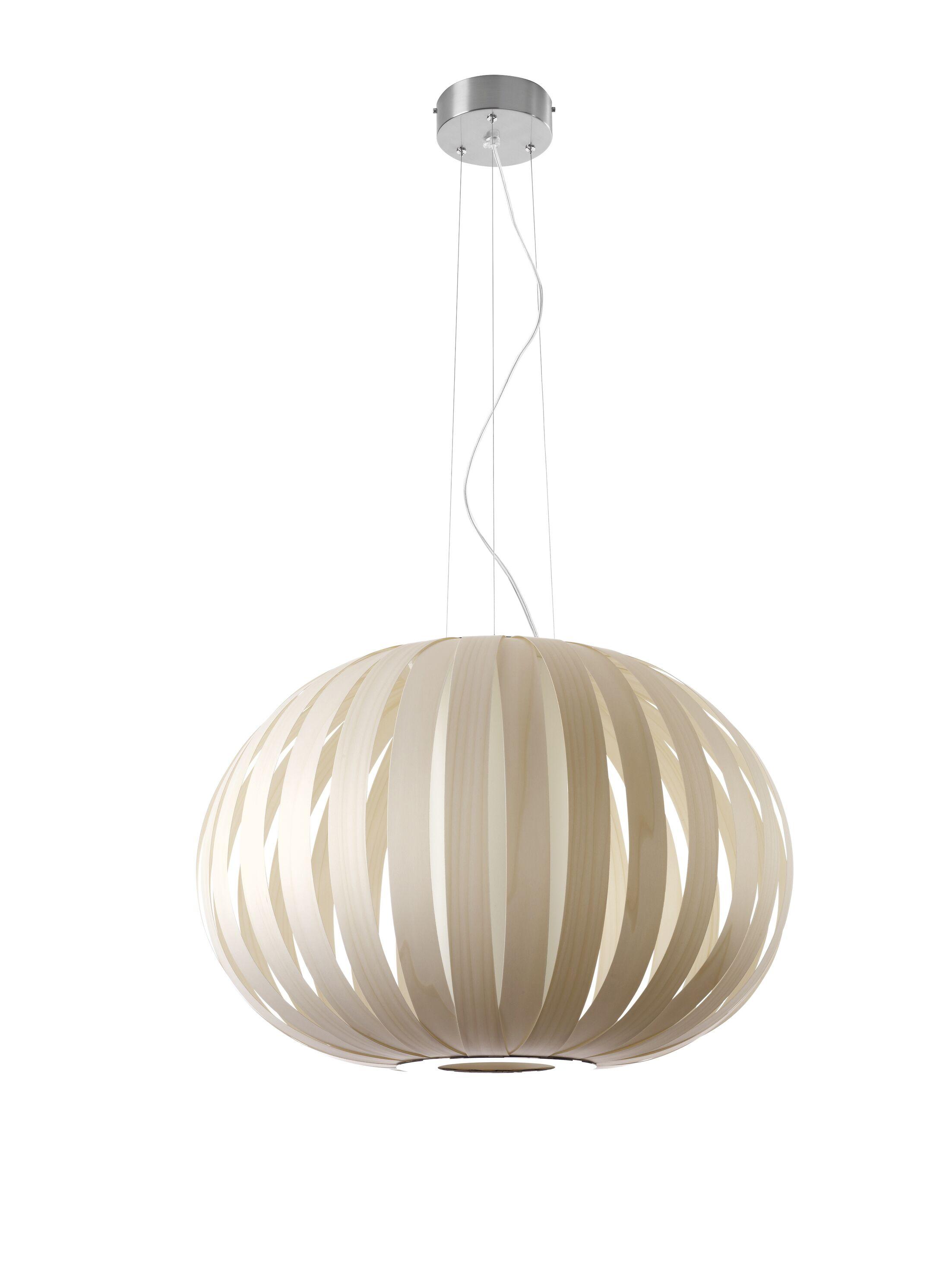 Poppy 1-Light Pendant Bulb Type: GU24, Finish: Ivory White, Size: 24.8
