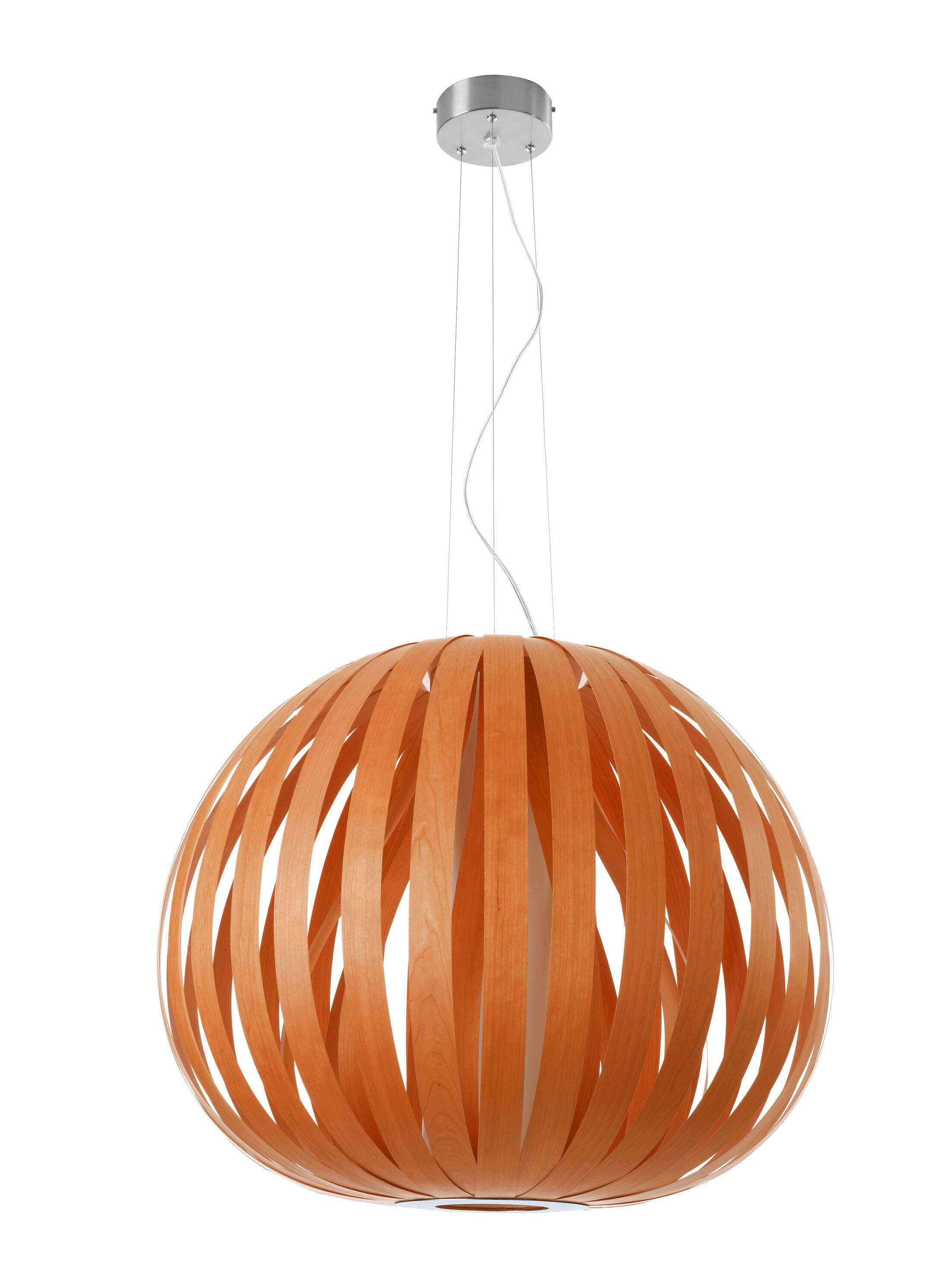 Poppy 1-Light Pendant Bulb Type: GU24, Finish: Orange, Size: 23.6