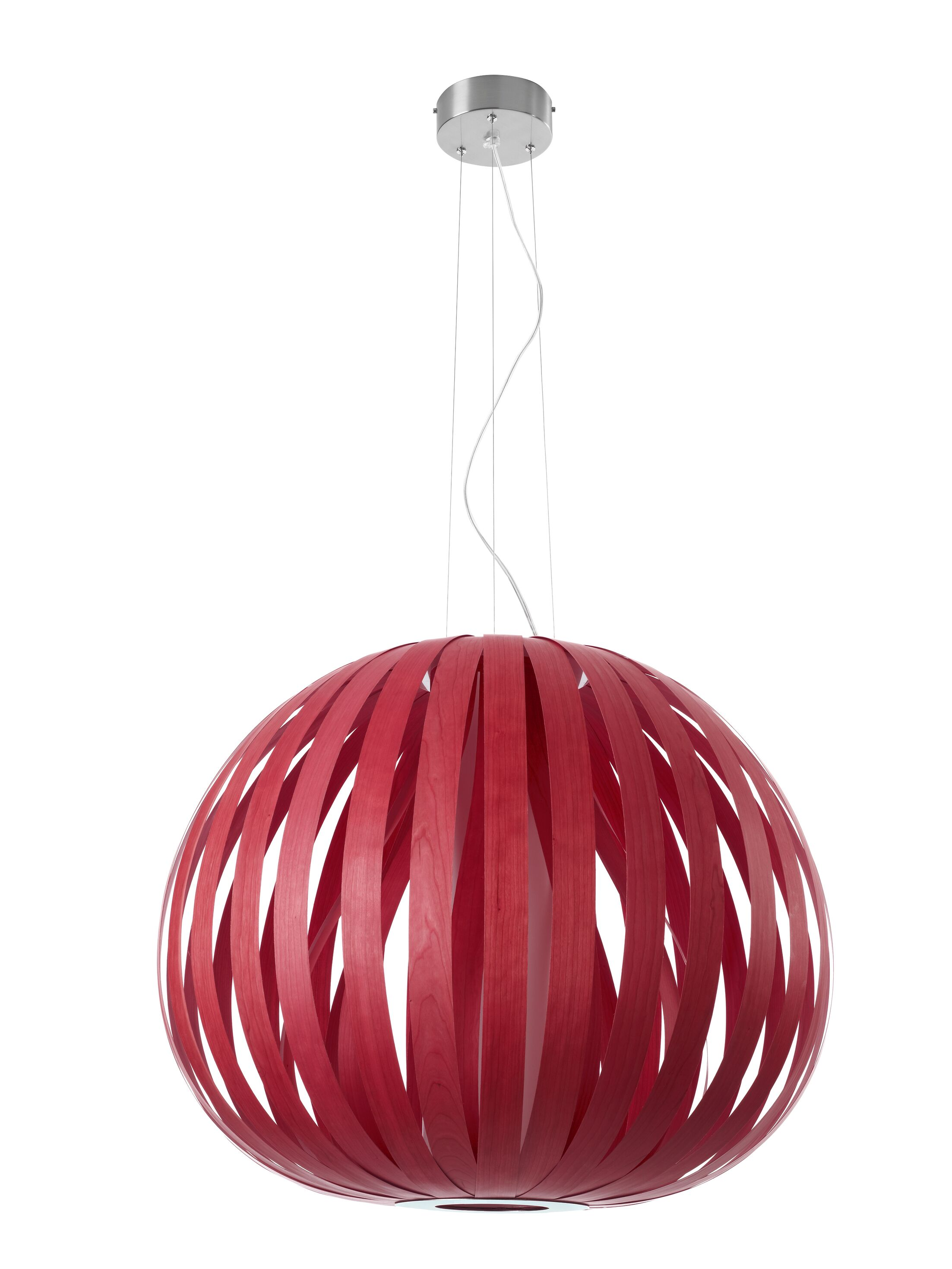 Poppy 1-Light Pendant Finish: Red, Bulb Type: E26, Size: 23.6