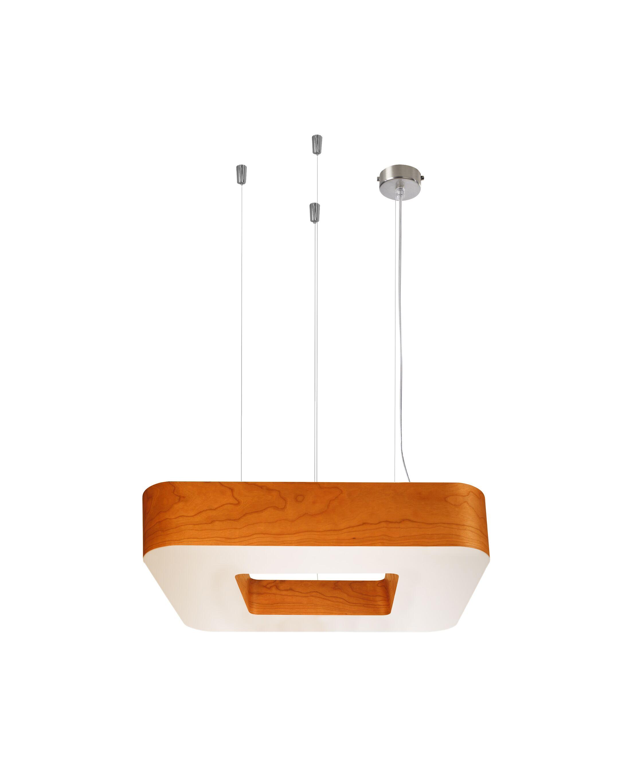 Cuad Club 4-Light Square/Rectangle Chandelier Ballast: Multivolt, Size: Medium, Finish: Orange