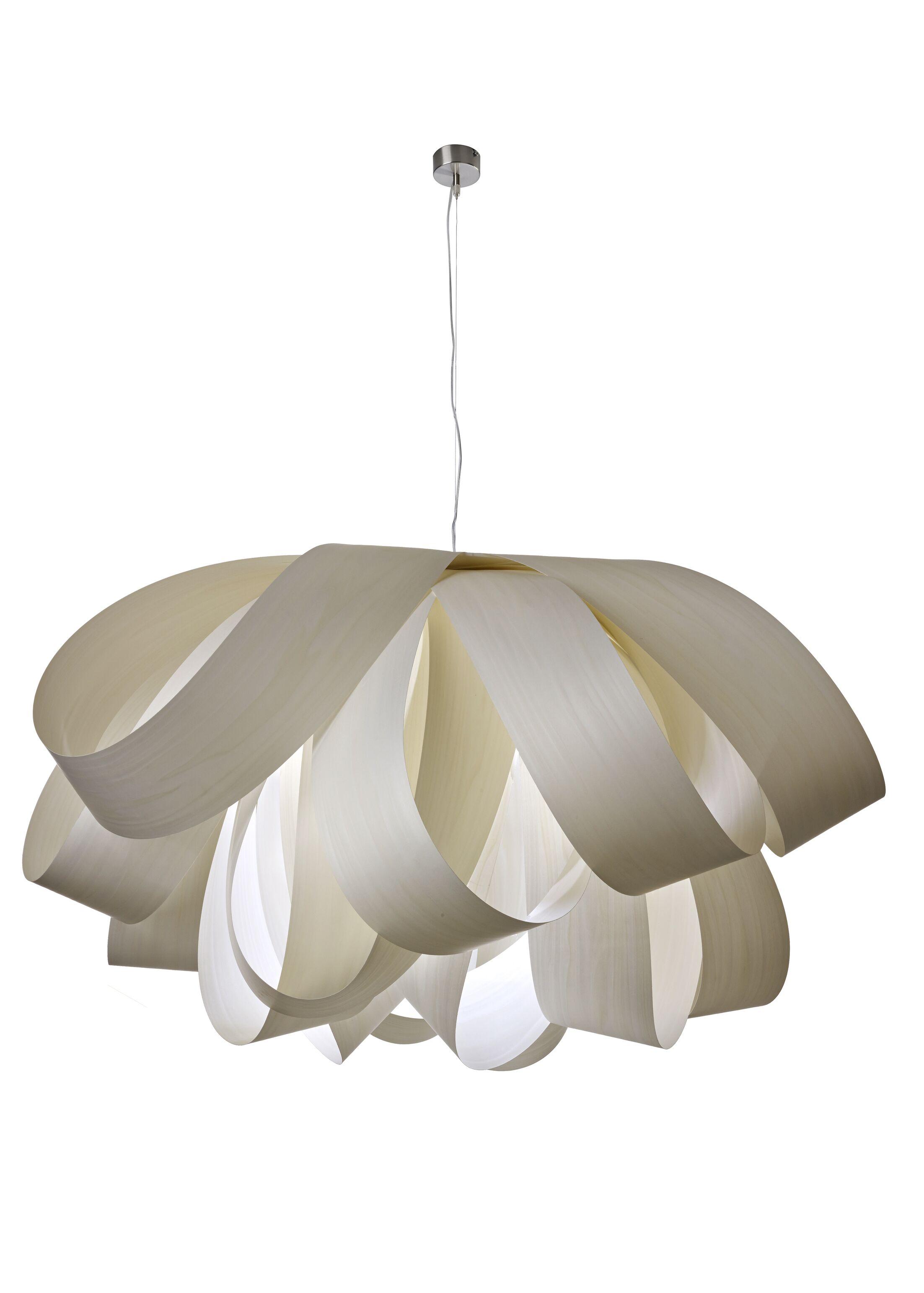 Agatha 3-Light Novelty Chandelier Bulb Type: GU24 Base, Finish: Ivory White, Size: Large
