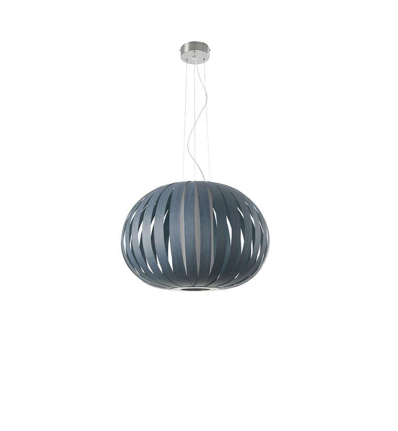 Poppy 1-Light Pendant Finish: Blue, Bulb Type: E26, Size: 24.8