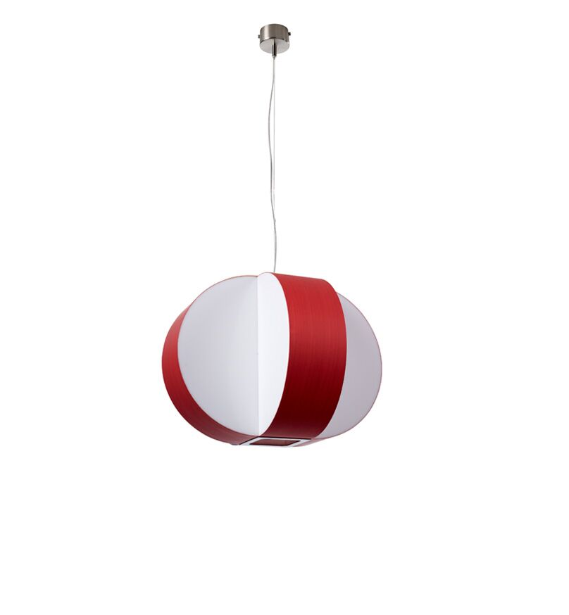 Carambola 1-Light Globe Pendant Bulb Type: E26, Finish: Red