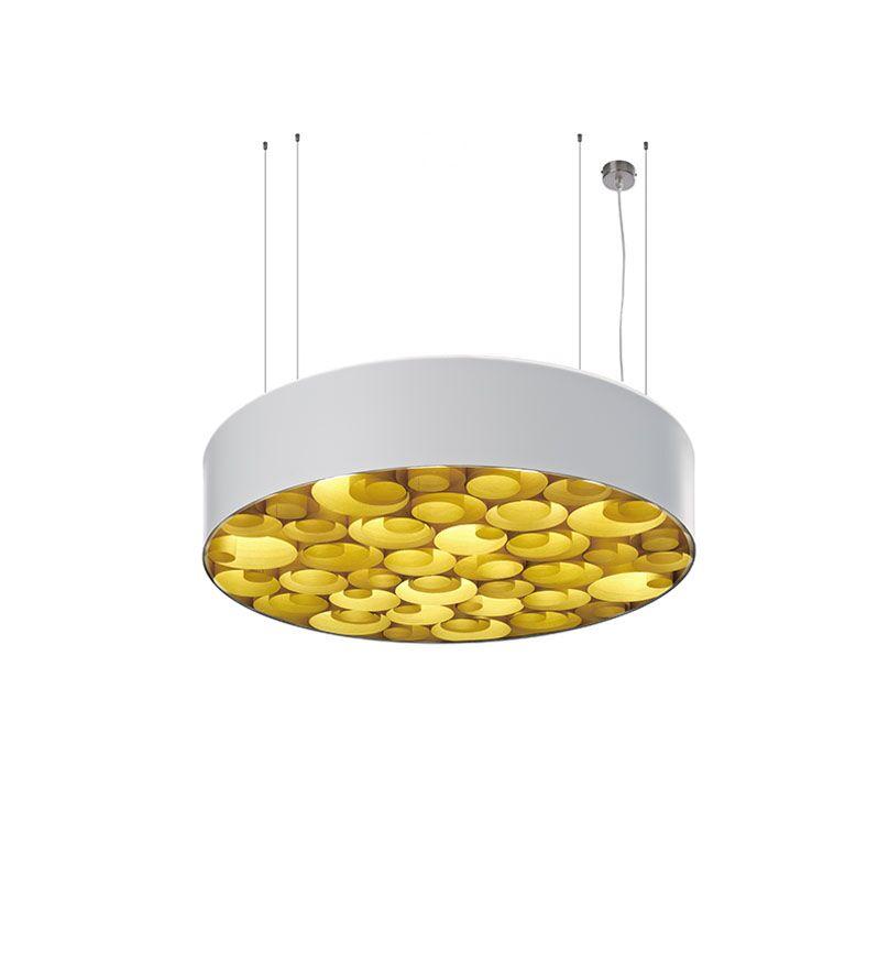 Spiro 4-Light Pendant Shade Color: White, Interior Shade Color: Yellow, Ballast: Dimmable